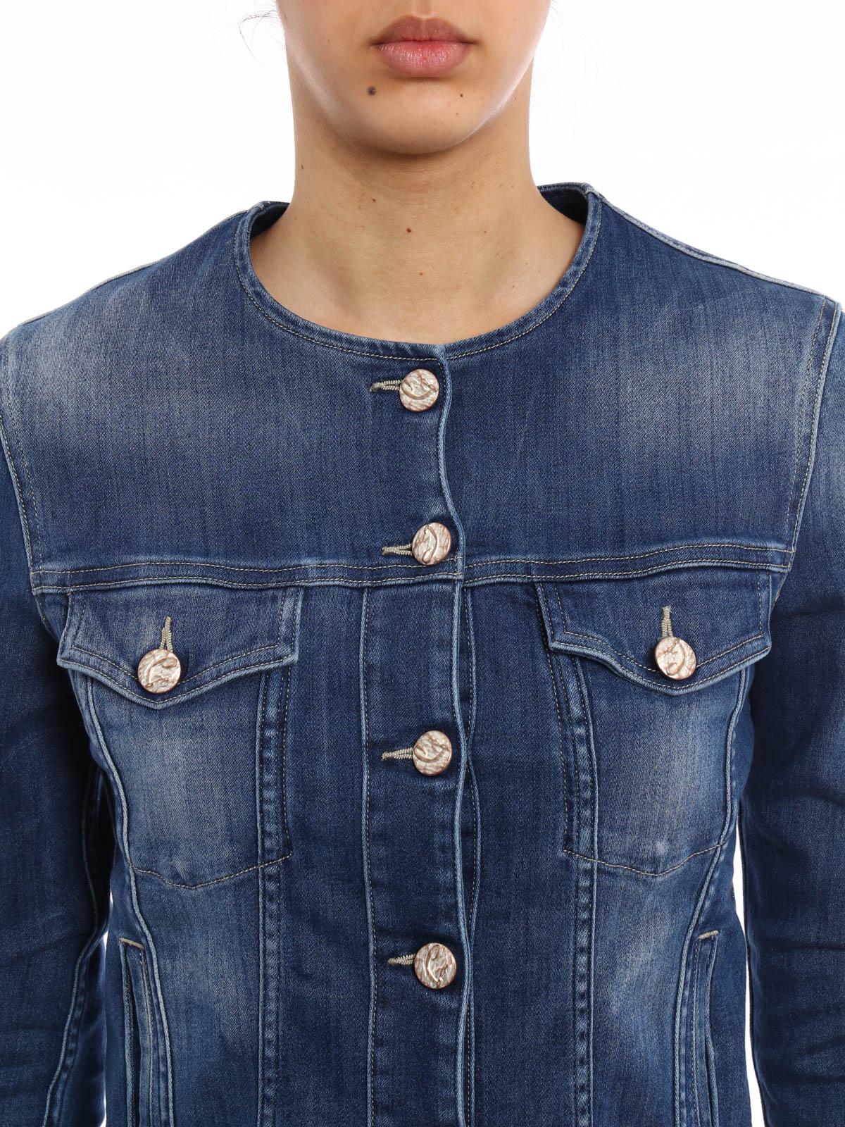 jeansjacke fur damen wash von jacob cohen jeansjacken ikrix. Black Bedroom Furniture Sets. Home Design Ideas