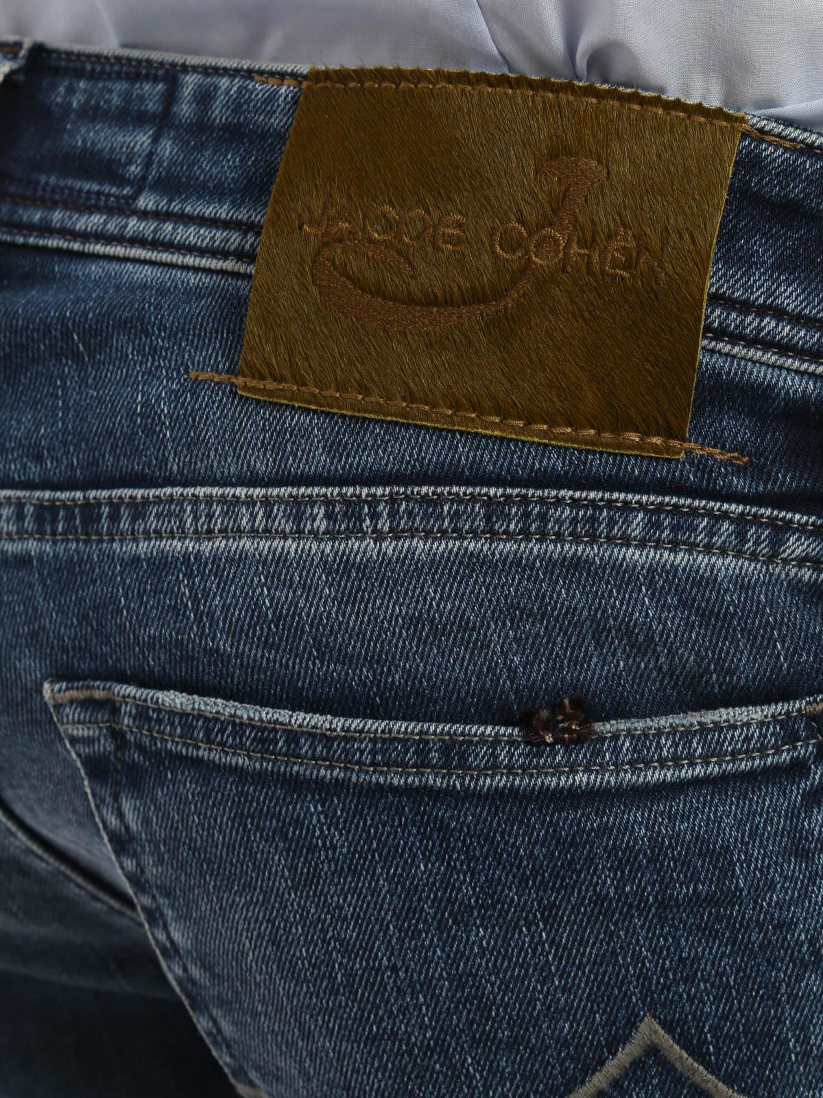 Faded denim jeans by jacob cohen straight leg jeans ikrix - Jacob cohen denim ...