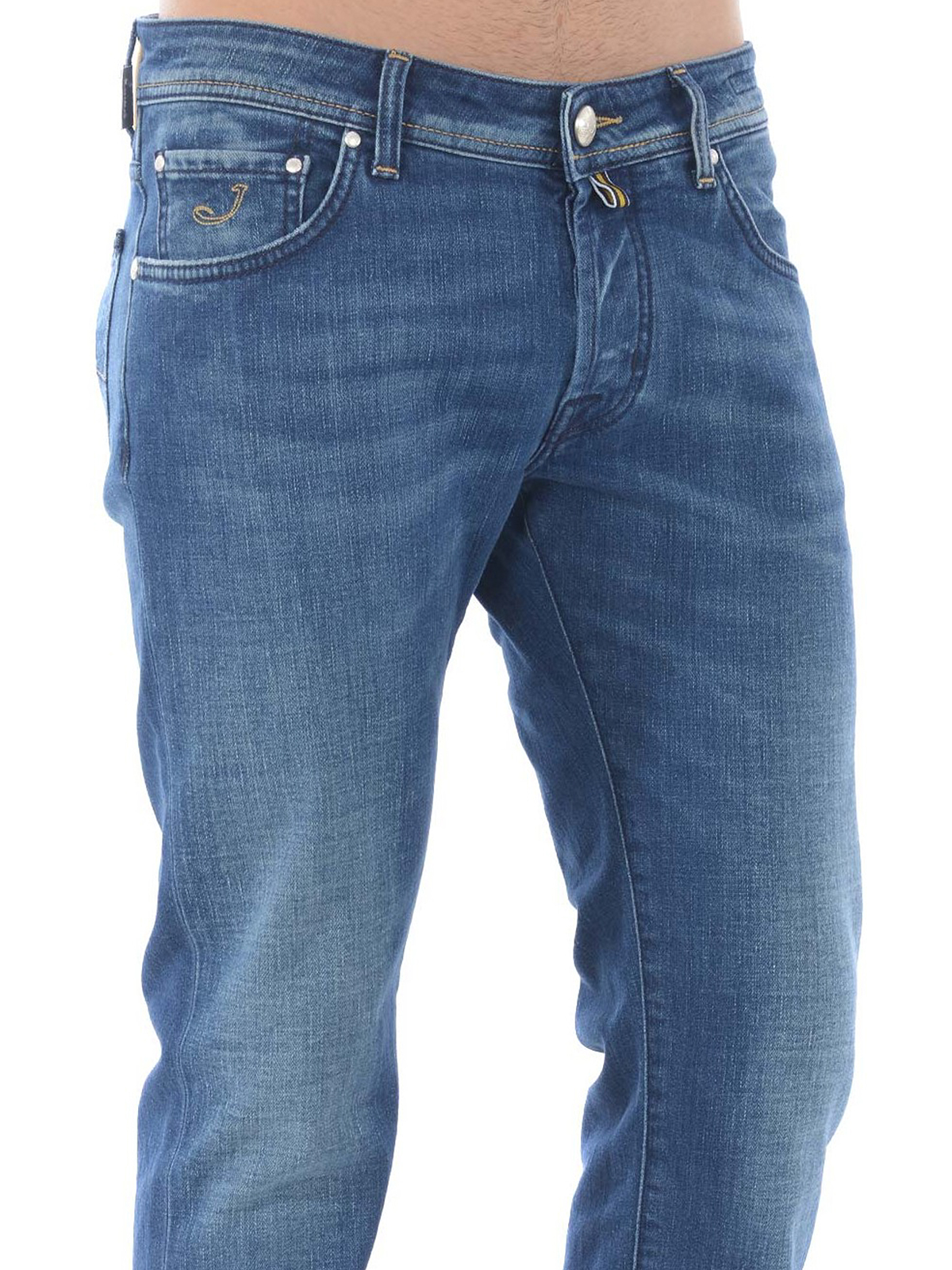 2a350de1c82e99 Jacob Cohen - J622 Comfort stone wash denim jeans - straight leg ...