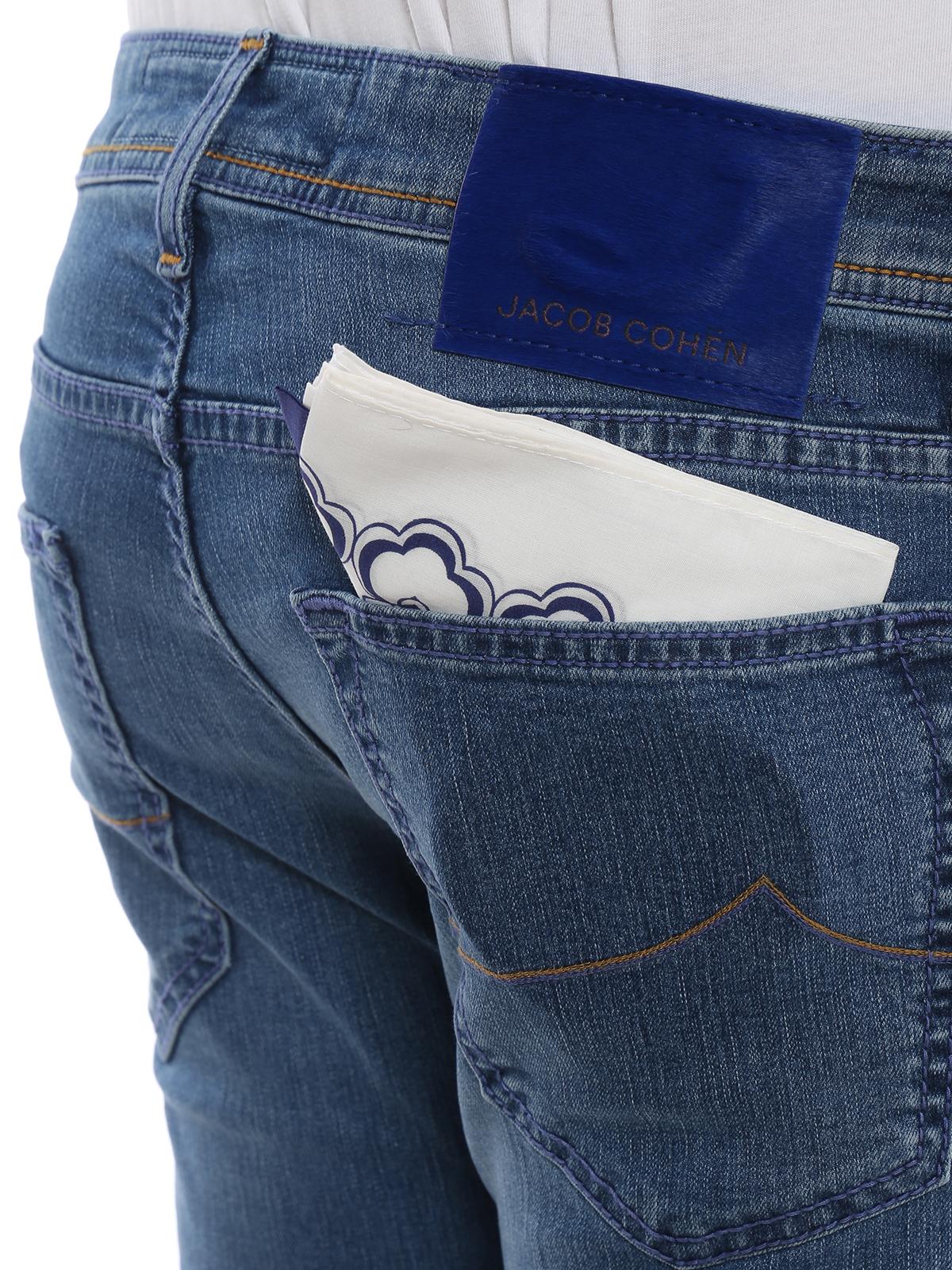 b75b2057f6254c Jacob Cohen - Style 622 slim fit cotton blend jeans - straight leg ...