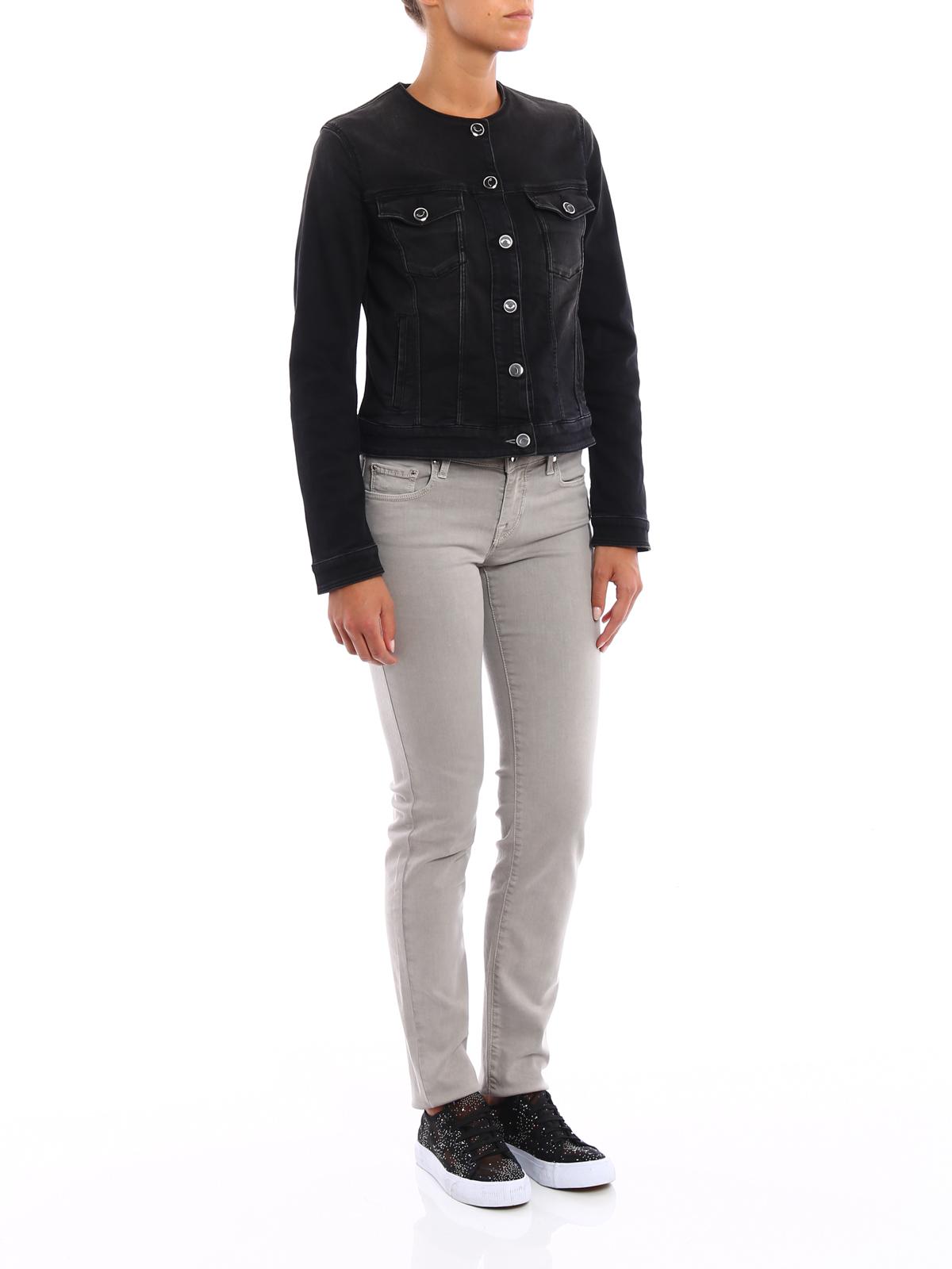 jeansjacke schwarz von jacob cohen jeansjacken ikrix. Black Bedroom Furniture Sets. Home Design Ideas