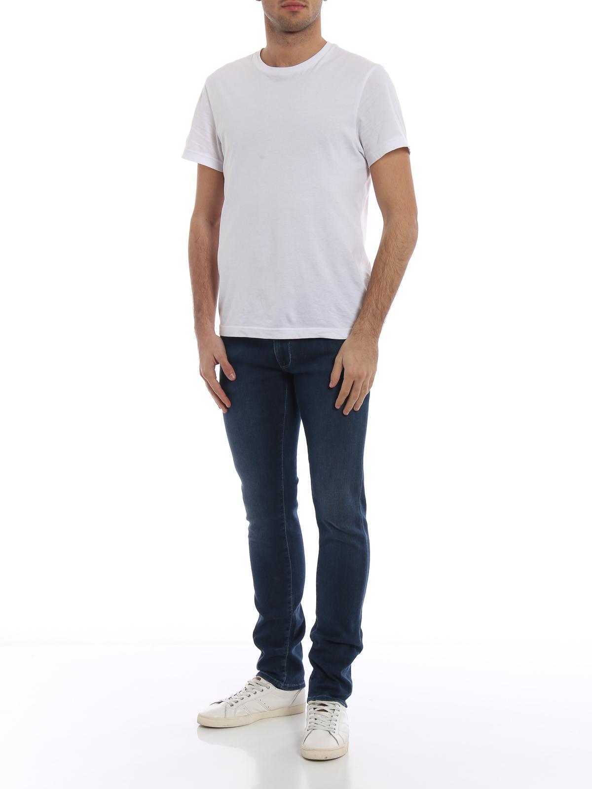 jacob cohen straight leg jeans jeansblau straight. Black Bedroom Furniture Sets. Home Design Ideas