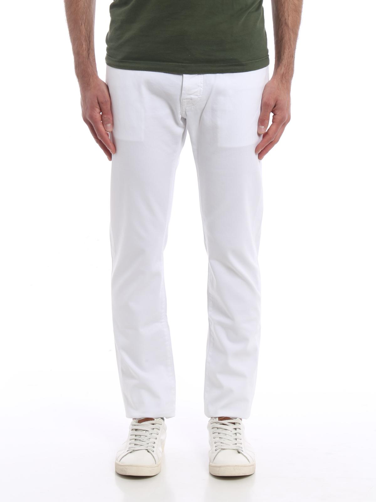 Pour Blanc Droite À Homme Jeans Cohen Slim Jean Jacob Jambe wtIFqI e712169f4c7