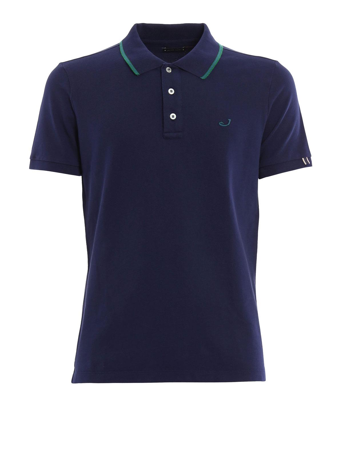Cotton pique polo shirt by jacob cohen polo shirts ikrix for Cotton on polo shirt