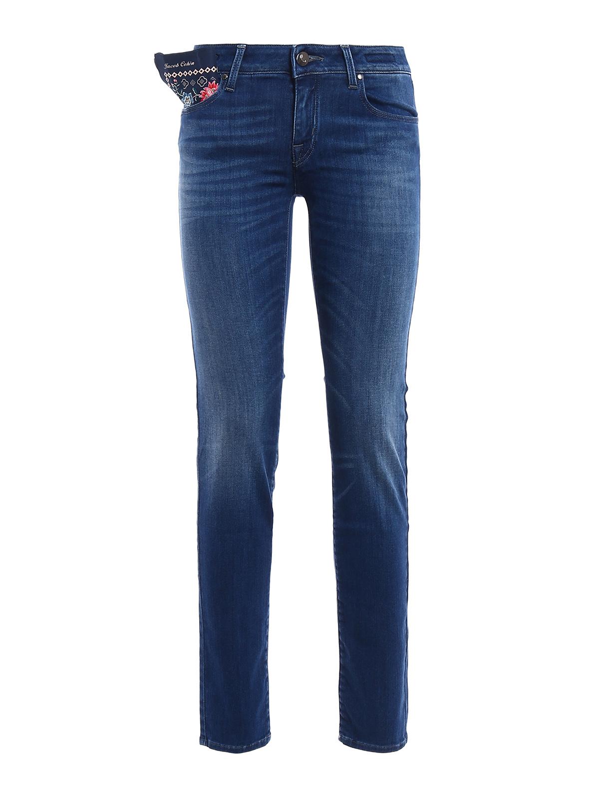 Jocelyn slim stretch denim jeans by jacob cohen skinny - Jacob cohen denim ...