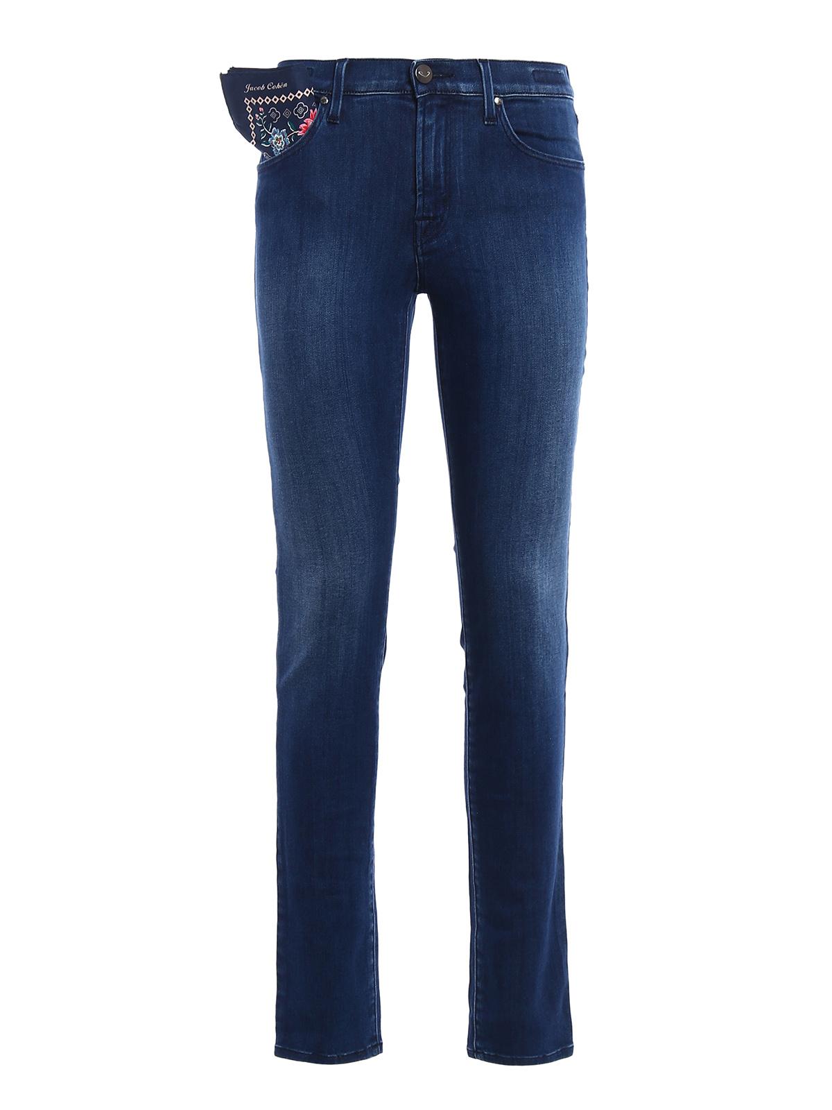 Kimberly slim stretch denim jeans by jacob cohen skinny - Jacob cohen denim ...