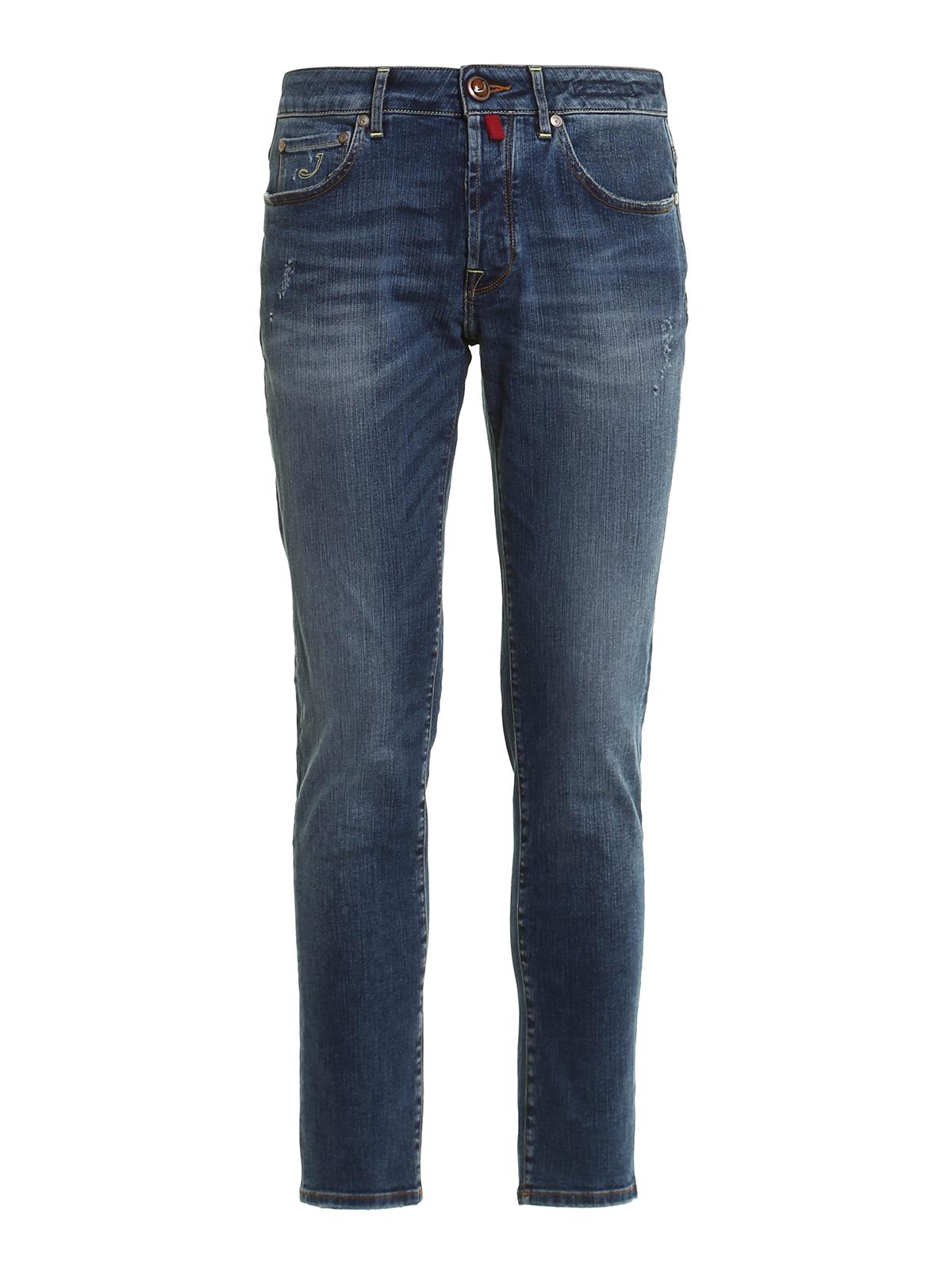 Buddy denim comfy jeans by jacob cohen straight leg - Jacob cohen denim ...