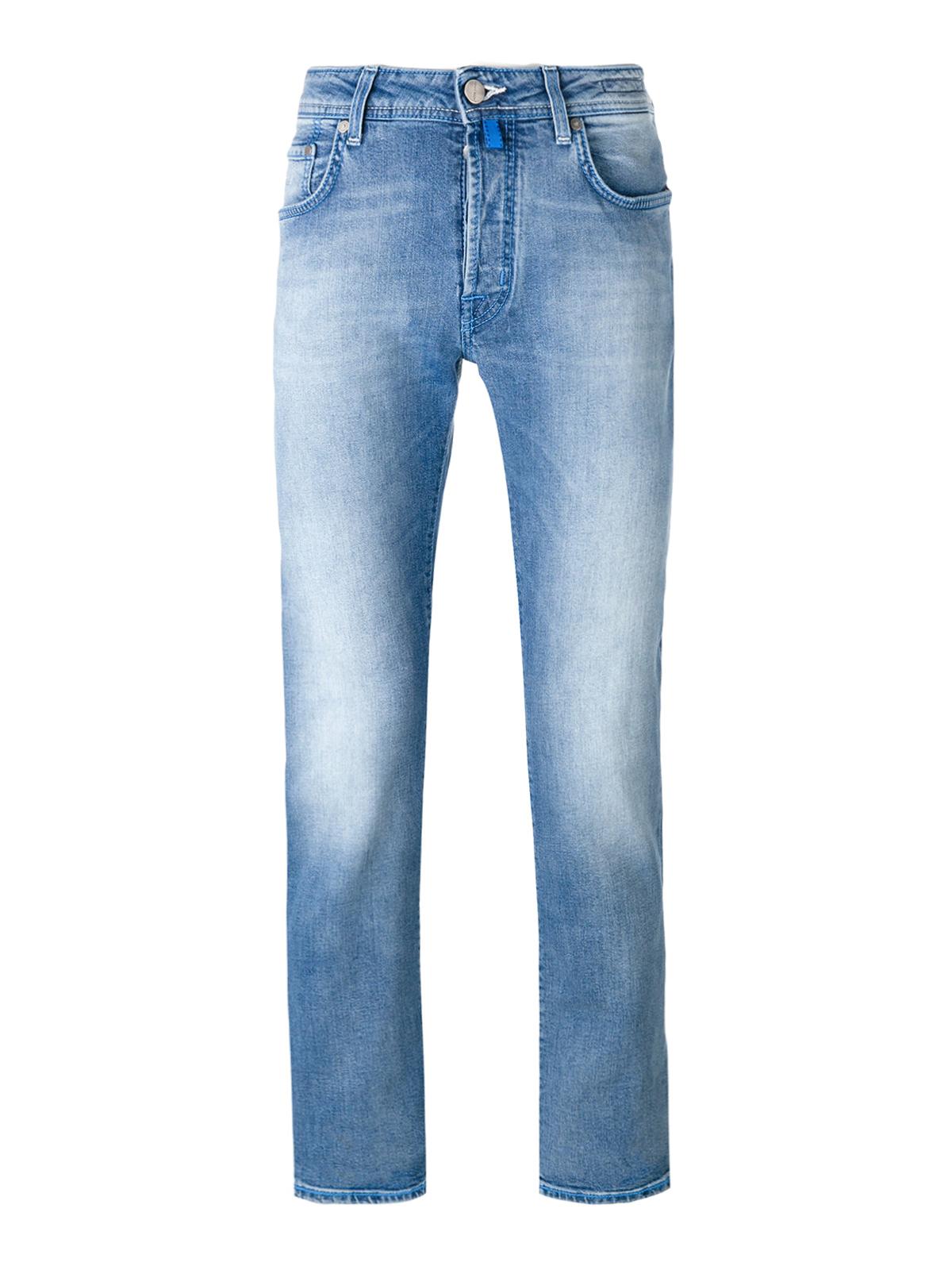 Faded denim tailored jeans by jacob cohen straight leg - Jacob cohen denim ...