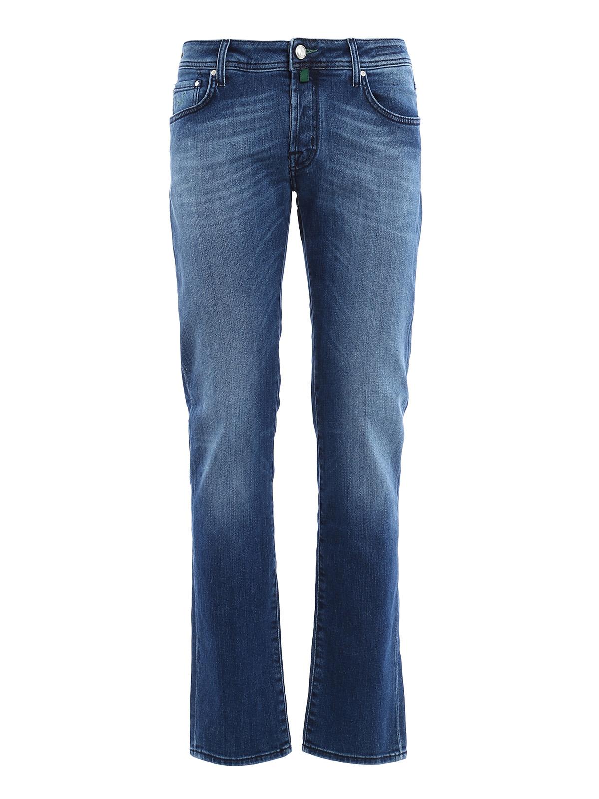 jacob cohen straight leg jeans dark wash straight. Black Bedroom Furniture Sets. Home Design Ideas