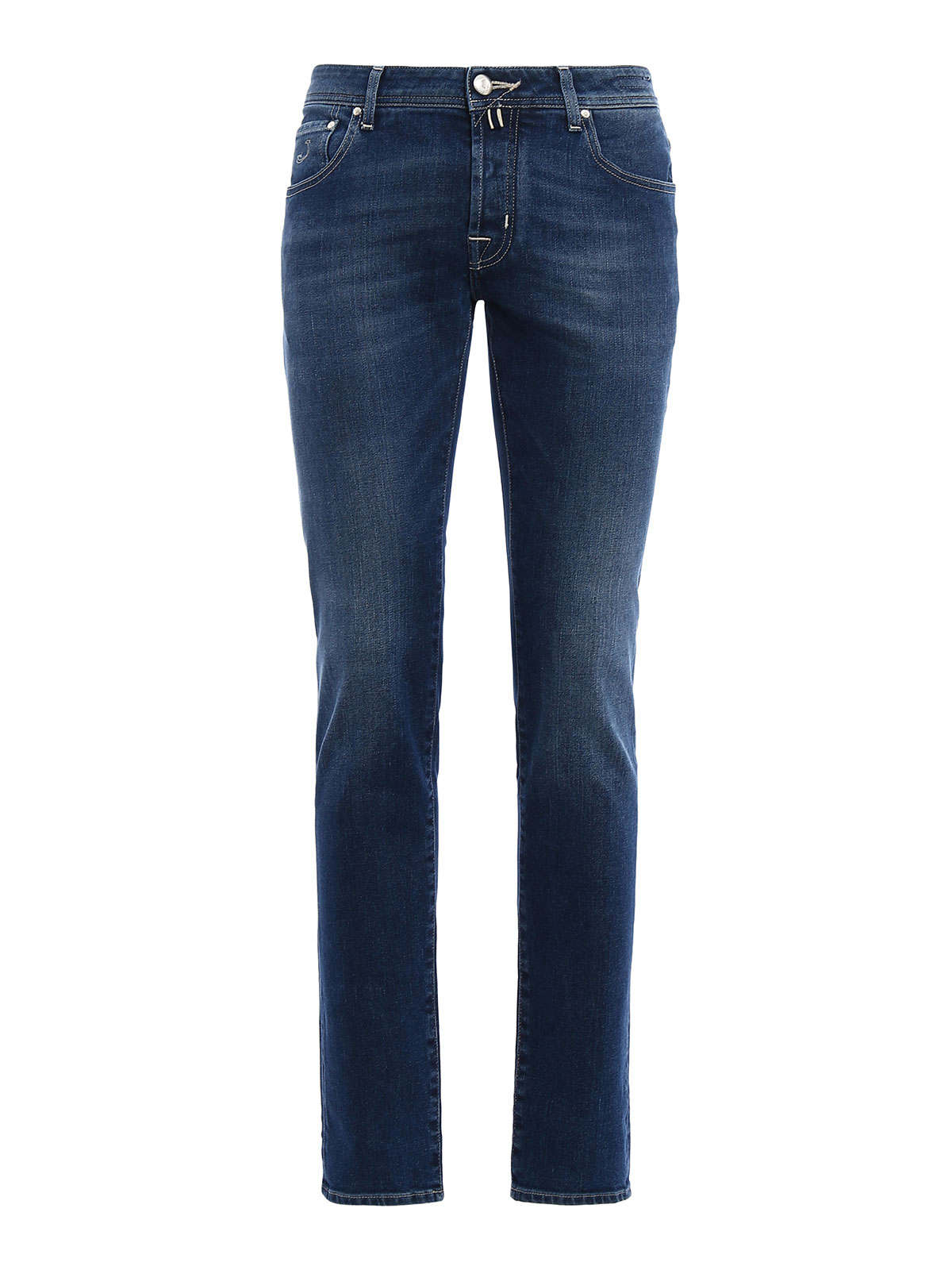 Jacob Cohen - Faded stretch denim jeans - straight leg ...