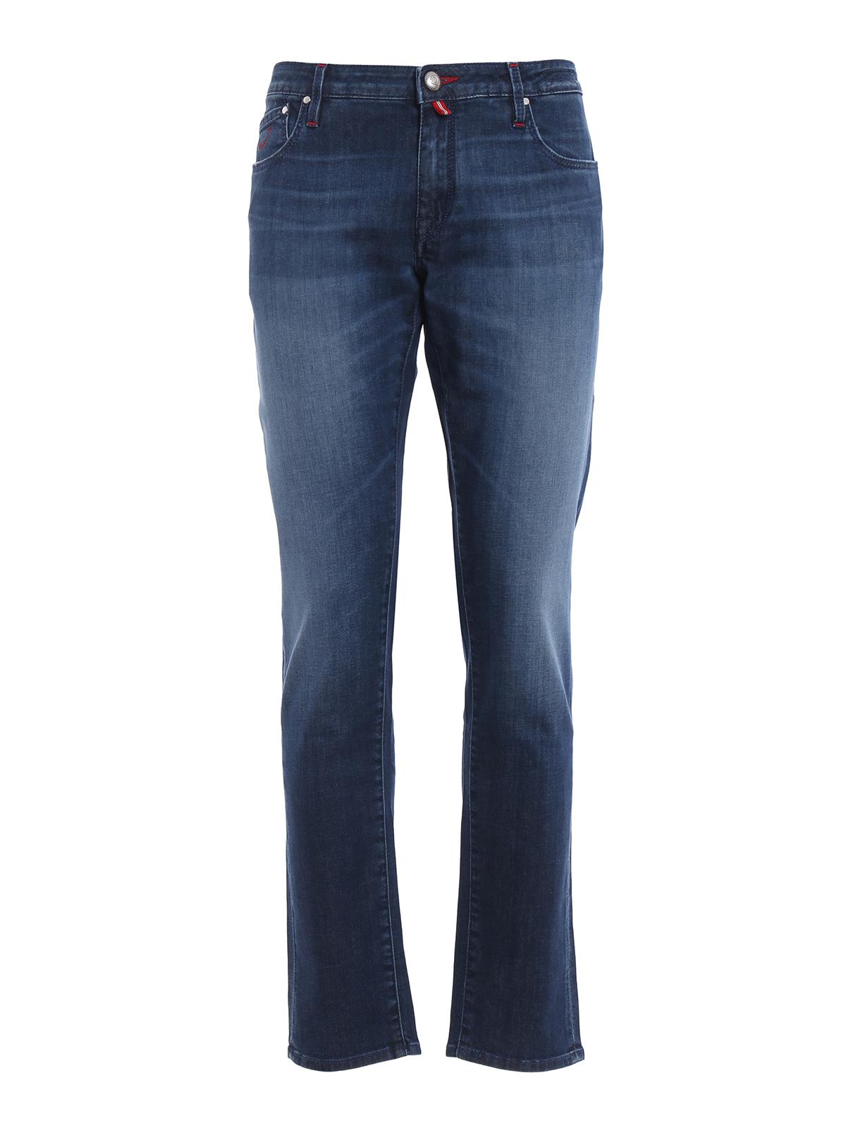 N 3 wash denim five pocket jeans by jacob cohen straight - Jacob cohen denim ...