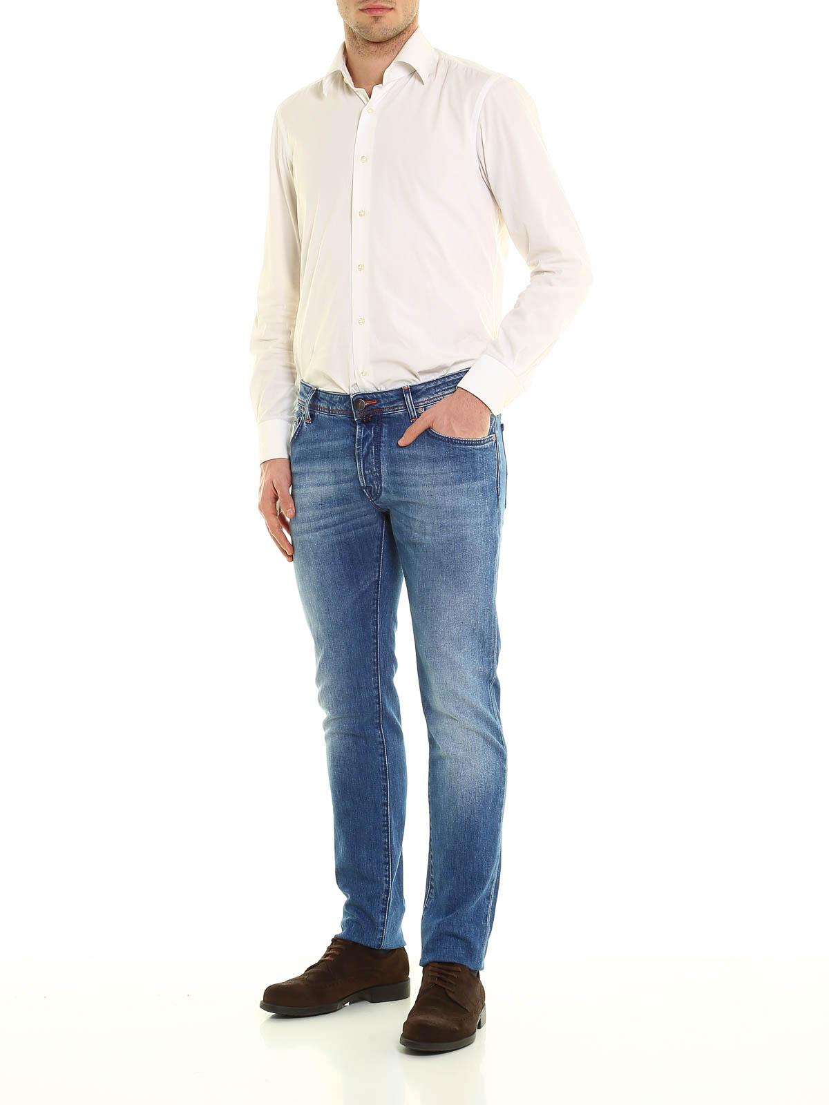 622 denim jeans by jacob cohen straight leg jeans ikrix - Jacob cohen denim ...