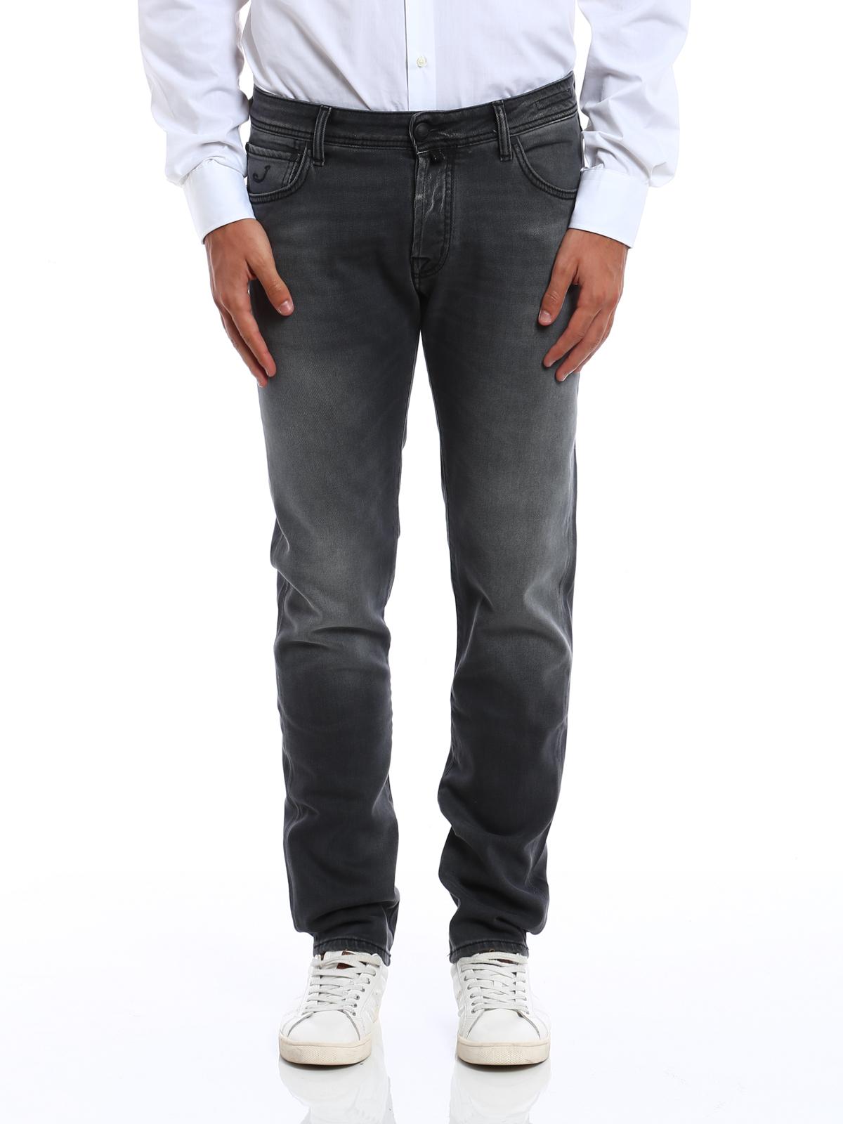 straight leg jeans grau von jacob cohen straight leg. Black Bedroom Furniture Sets. Home Design Ideas