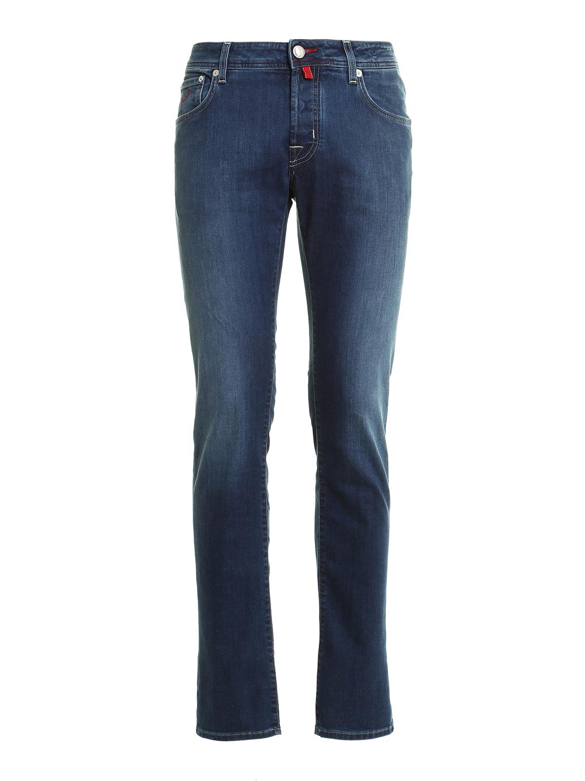 Pw622 denim jeans by jacob cohen straight leg jeans ikrix - Jacob cohen denim ...