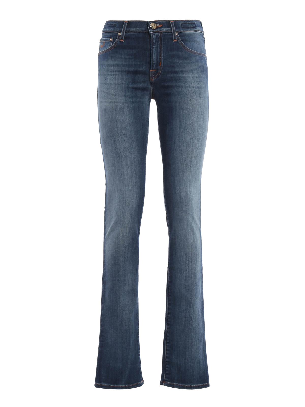 Stone wash denim jeans by jacob cohen straight leg jeans - Jacob cohen denim ...