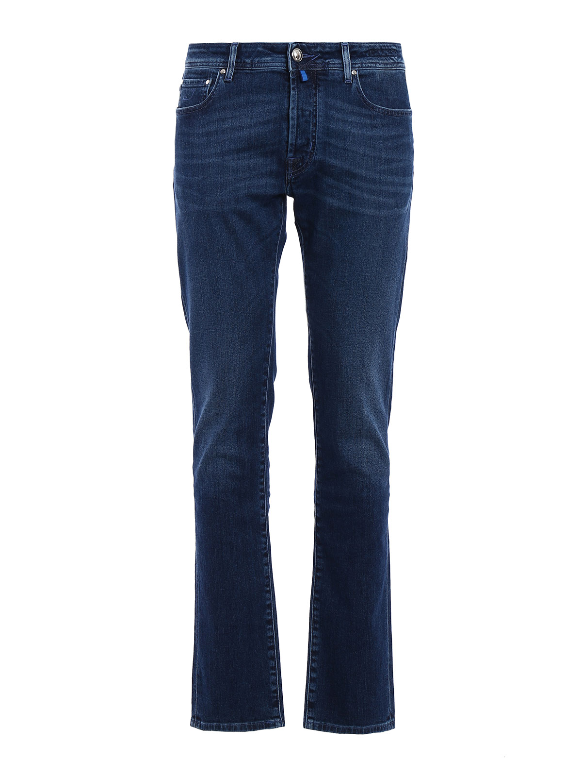 Stonewashed stretch denim jeans by jacob cohen straight - Jacob cohen denim ...