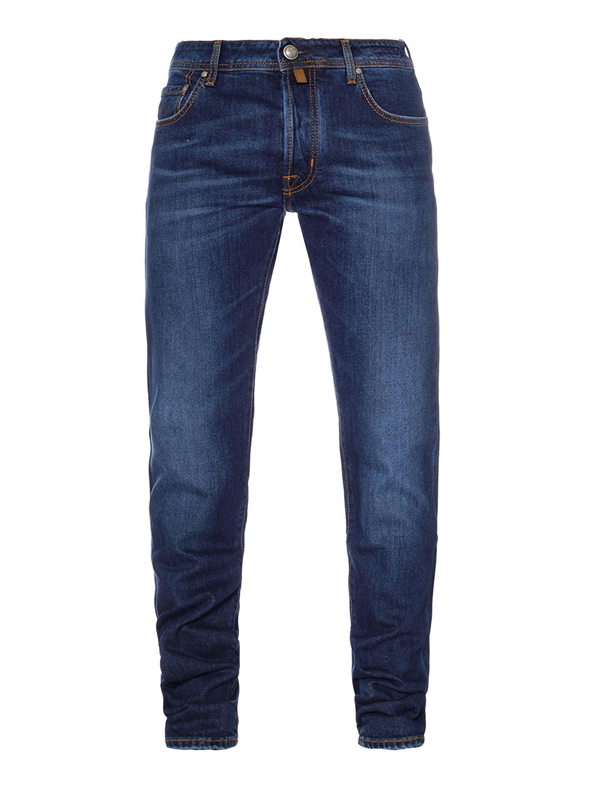 jacob cohen straight leg jeans blau straight leg. Black Bedroom Furniture Sets. Home Design Ideas