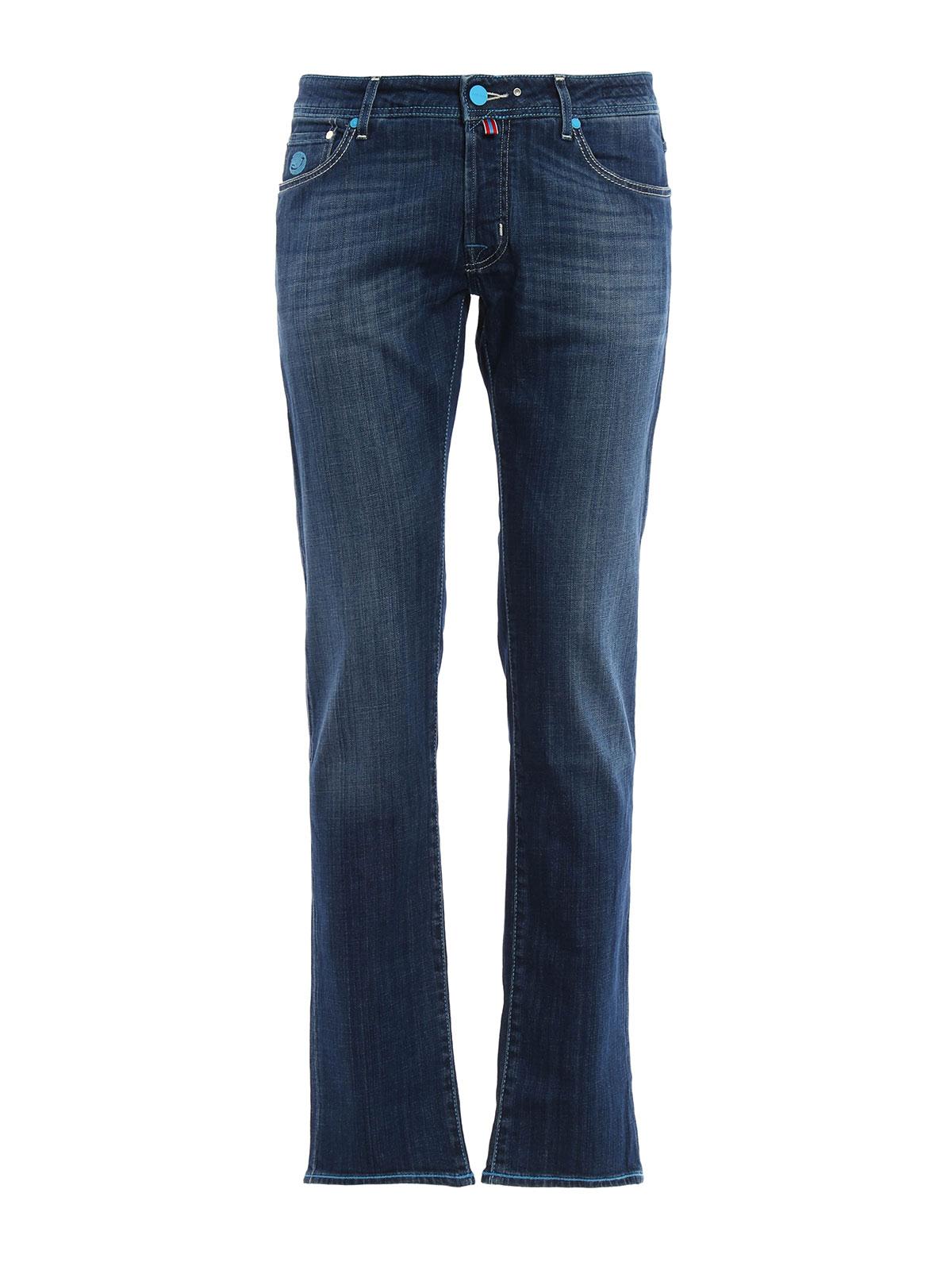 Tailored j622 jeans by jacob cohen straight leg jeans - Jacob cohen denim ...