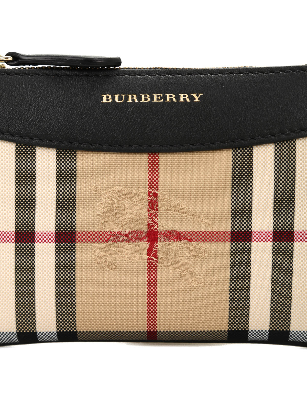 fd8b4456bbd7 Burberry - Jacquard and leather pouch - wallets   purses - 40111121 ...