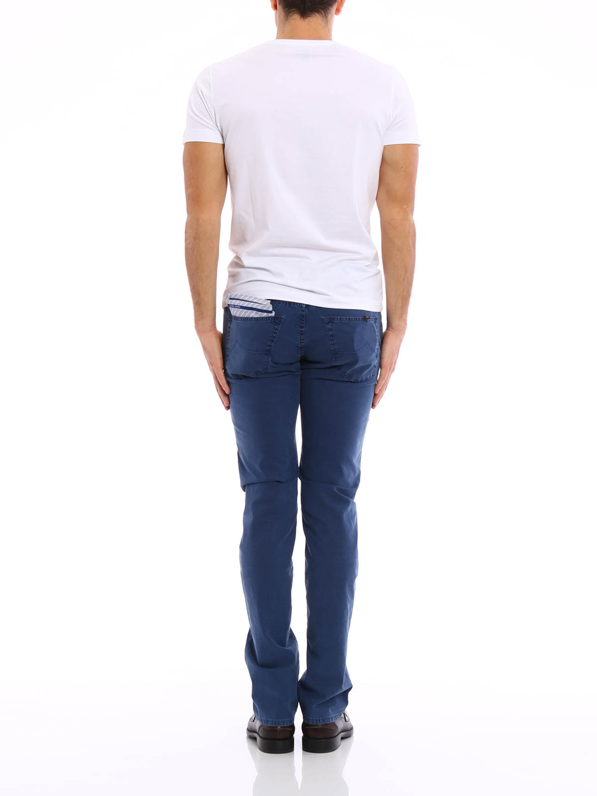jeans jacquard jacob cohen jeans dritti a sigaretta ikrix. Black Bedroom Furniture Sets. Home Design Ideas