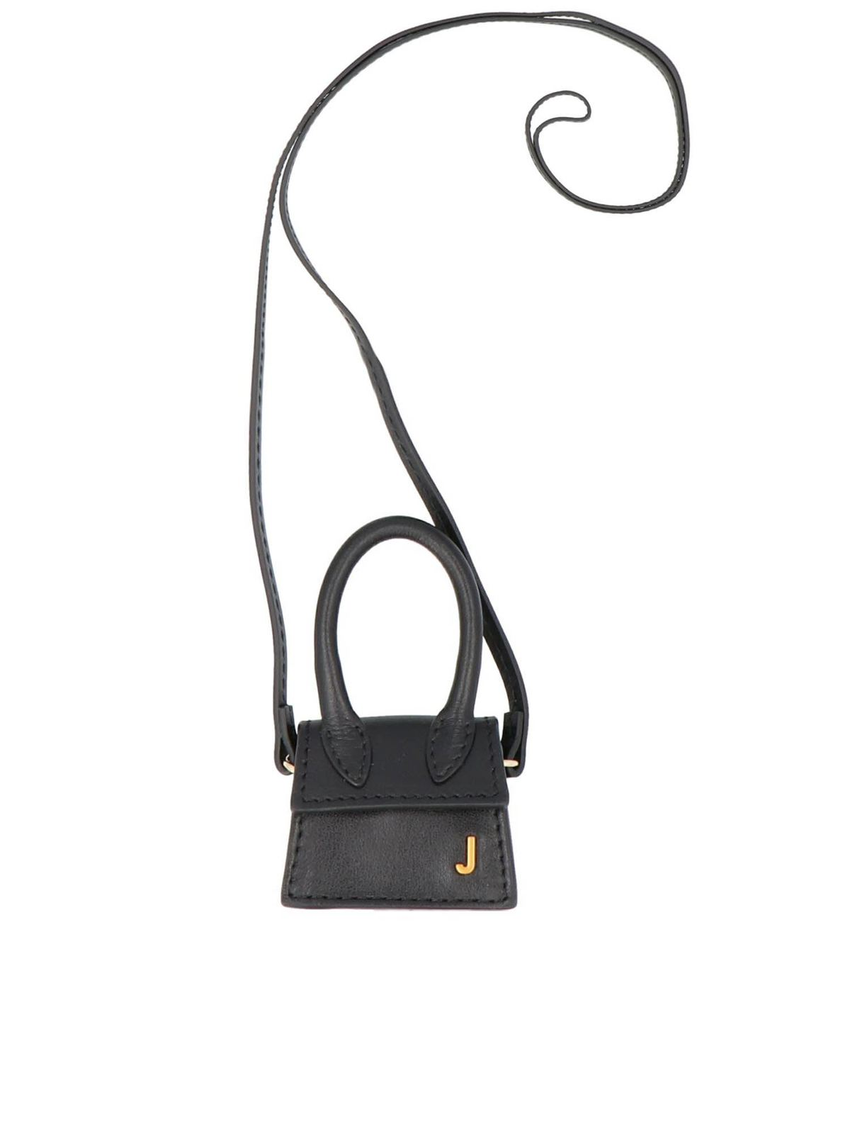 Jacquemus Leathers MICRO LE PETIT CHIQUITO BAG IN BLACK