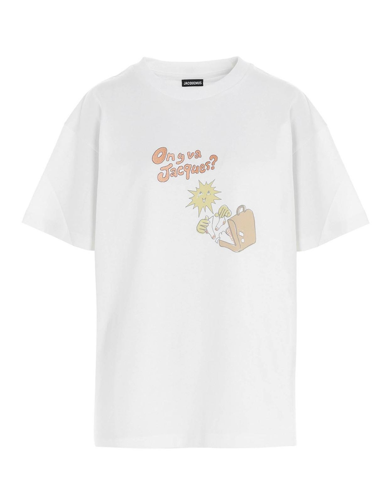 Jacquemus BONNE NUIT JACQUES T-SHIRT IN ORANGE