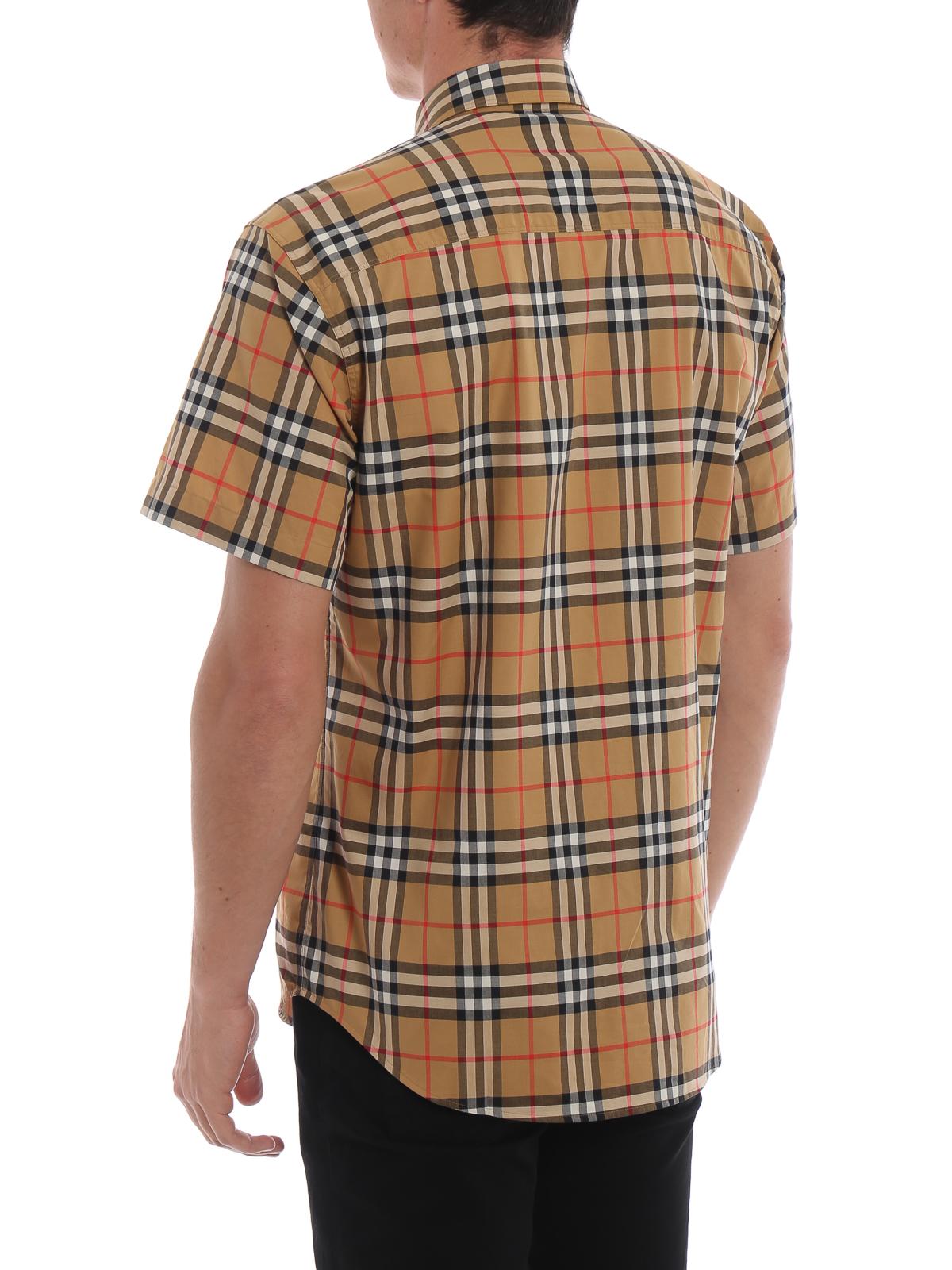 efd6b760c3 Burberry - Camicia Jameson Vintage check a manica corta - camicie ...