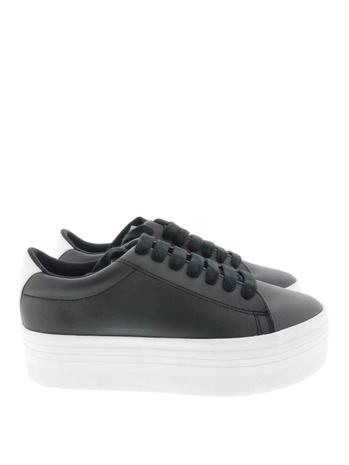 Jeffrey Campbell - Sneaker Stan in pelle - sneakers - STANBLACK WHITE 314a2ae0133