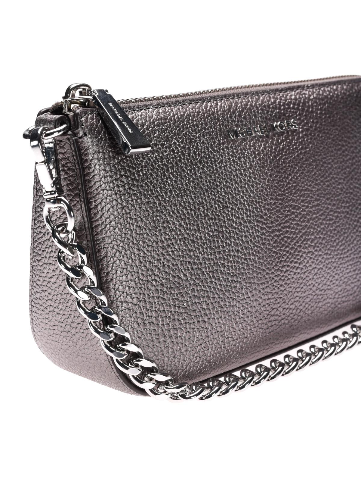 9849c6459191ed ... Jet Set gunmetal wristlet purse shop online Michael Kors ...