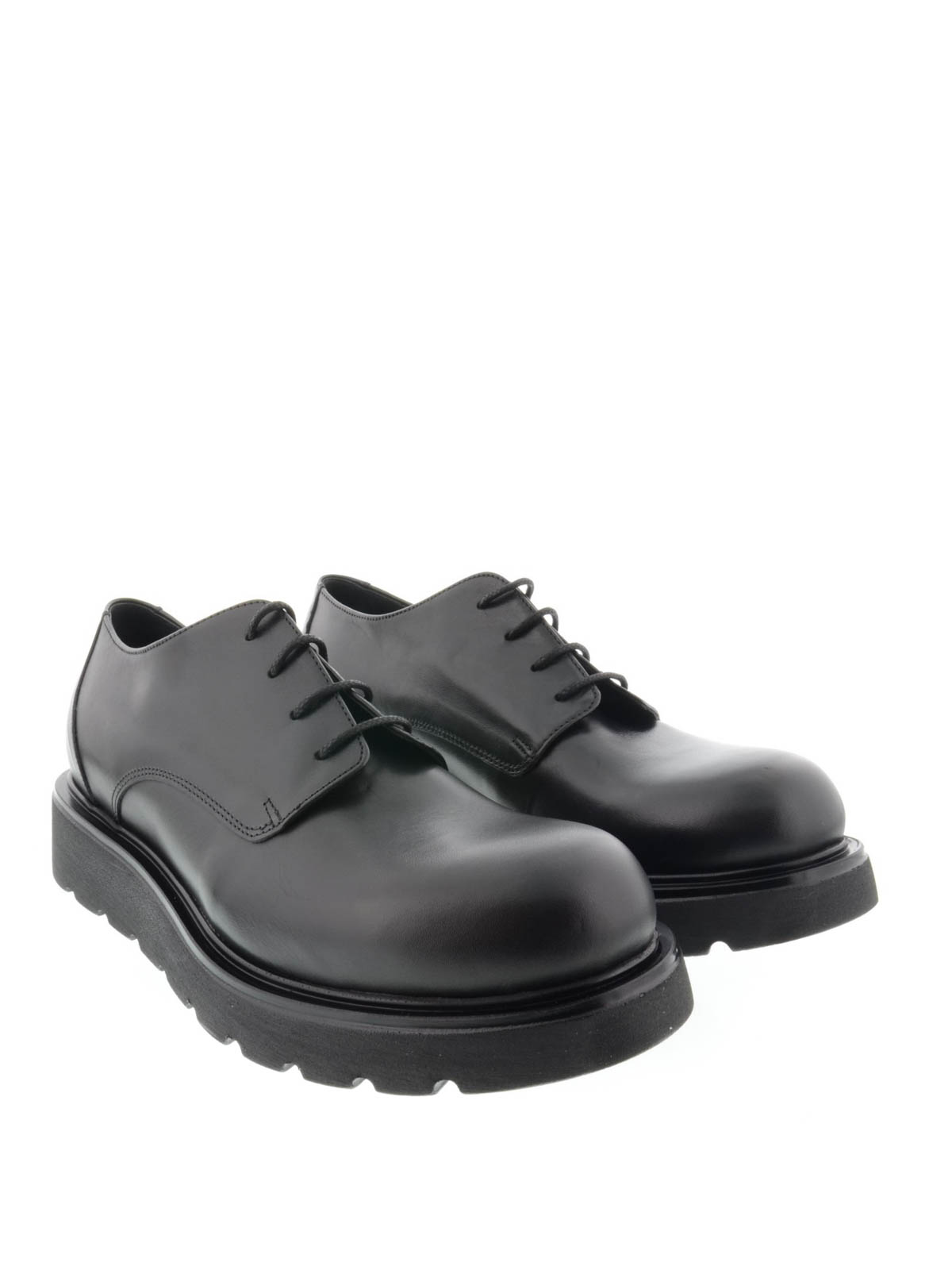 new product 6e9a2 39107 Jfk - Stringate in pelle - scarpe stringate - P1847NERO