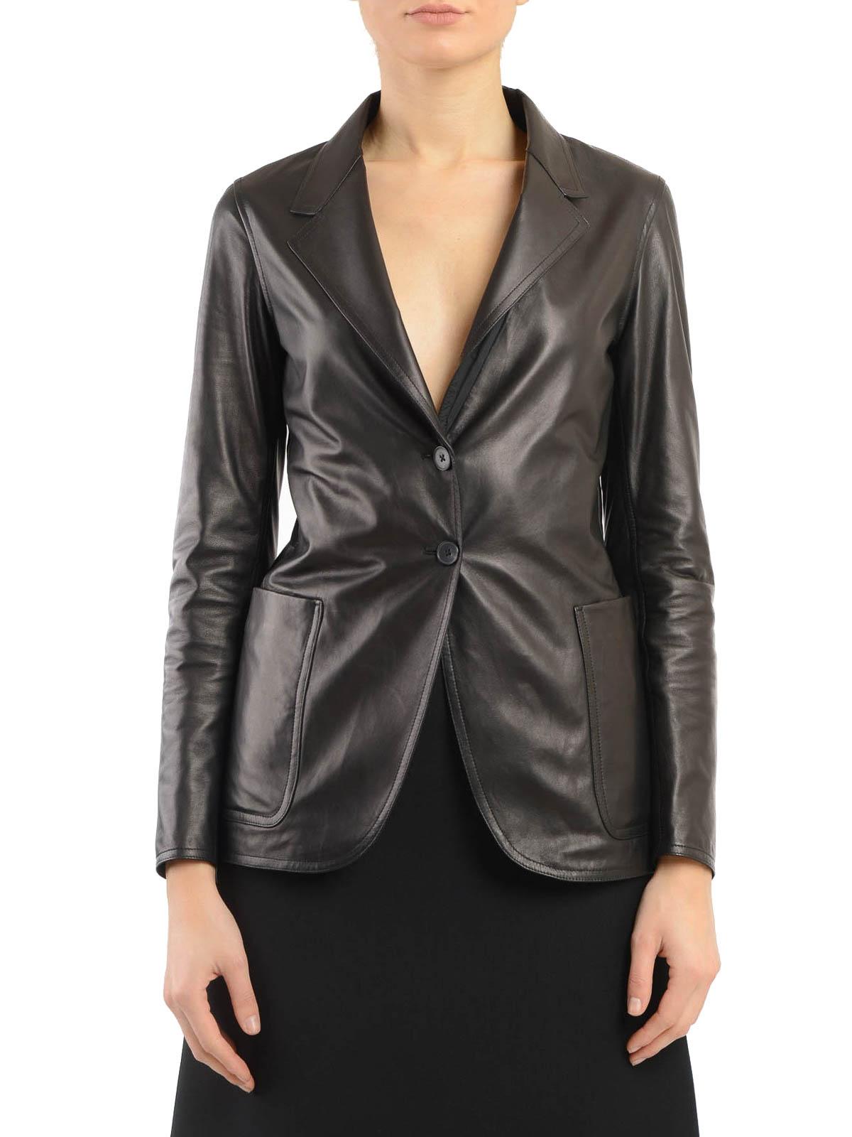 timeless design 5776a 75271 Jil Sander - Blazer in pelle - giacche in pelle - JSPH651570 ...