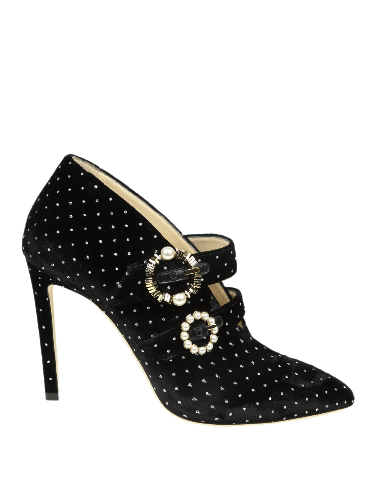 6540a2e6f07 JIMMY CHOO  ankle boots - Larissa 100 glitter spotted velvet booties