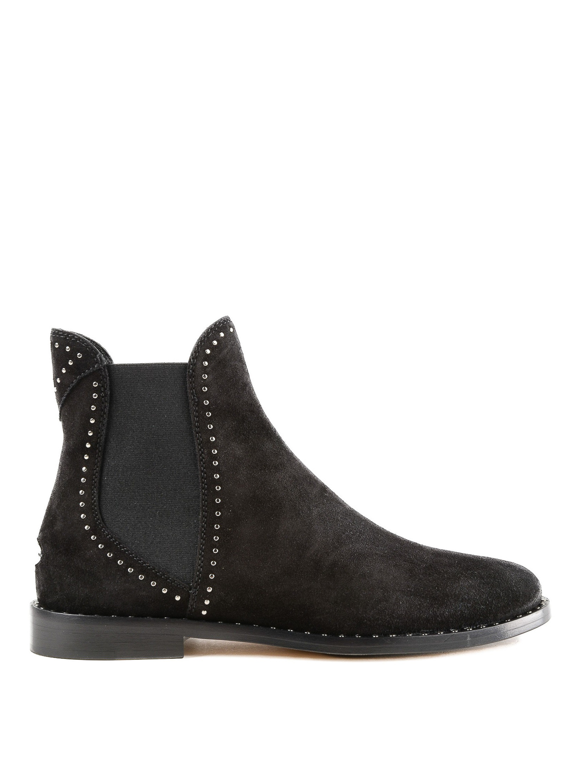 33e715bb9cc Jimmy Choo - Merril stud detail suede flat booties - ankle boots ...