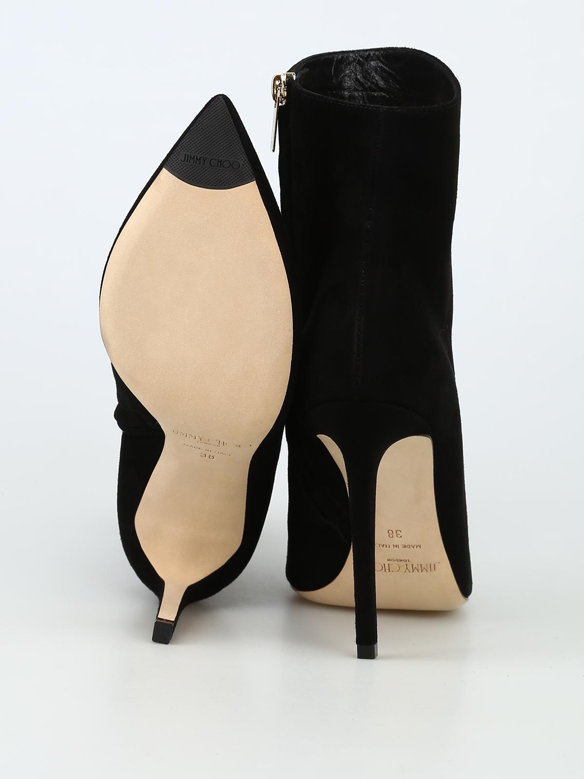 a3e00ba96325 Jimmy Choo - Helaine 100 black suede heeled booties - ankle boots ...