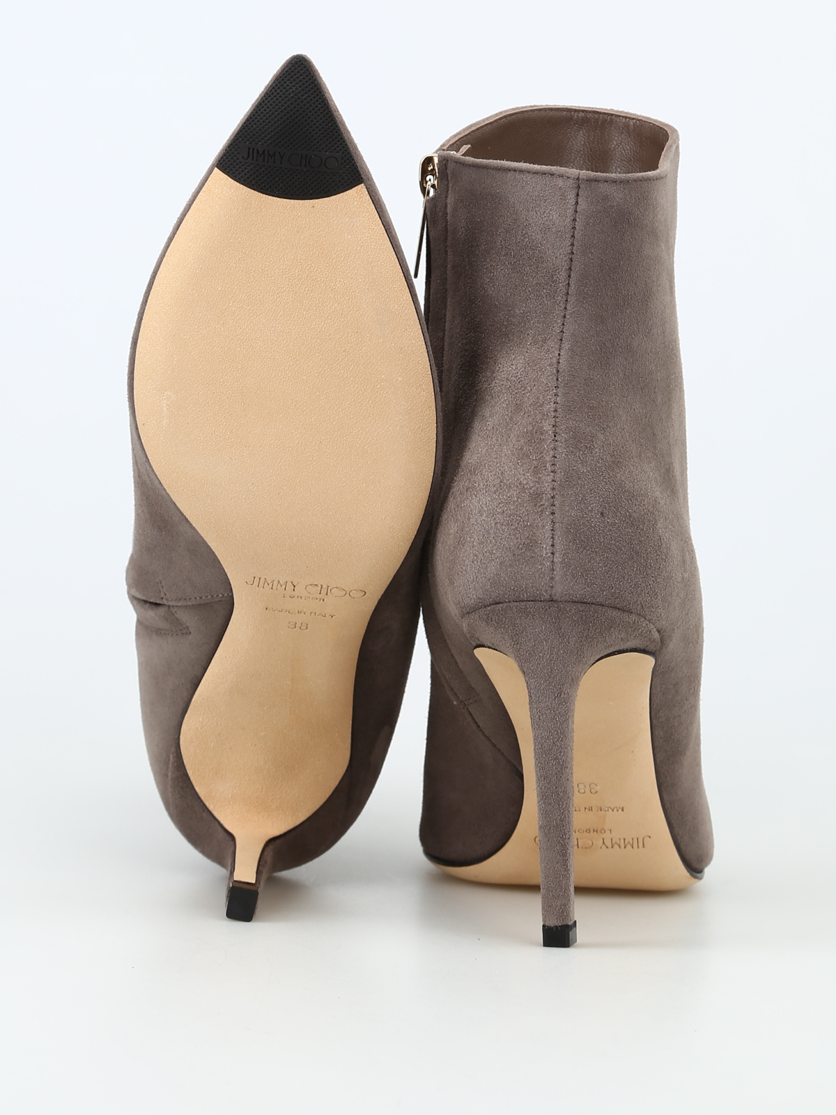 e7fba96b61d5 Jimmy Choo - Helaine 85 dark grey suede heeled booties - ankle boots ...