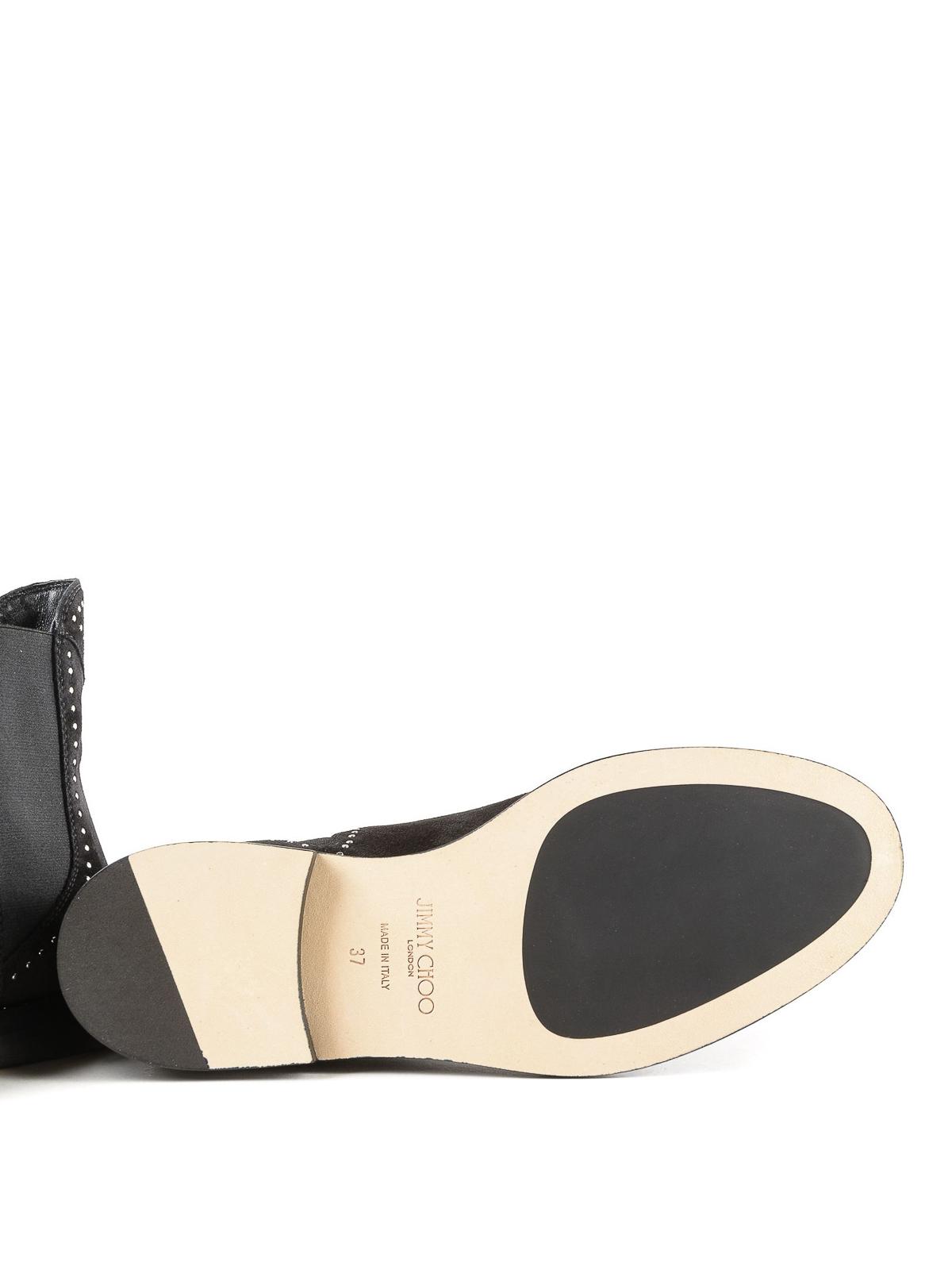 3e235432013 JIMMY CHOO buy online Merril stud detail suede flat booties · JIMMY CHOO  ankle  boots ...