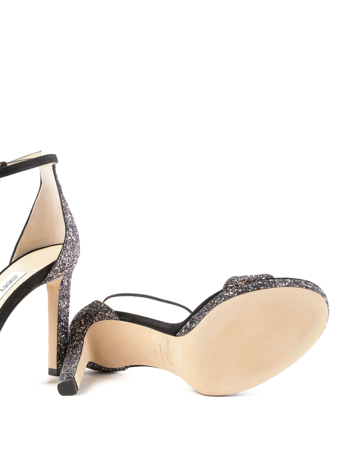 9b6a4bd1118 Jimmy Choo - Misty twilight glitter sandals - sandals - MISTY 100 ...