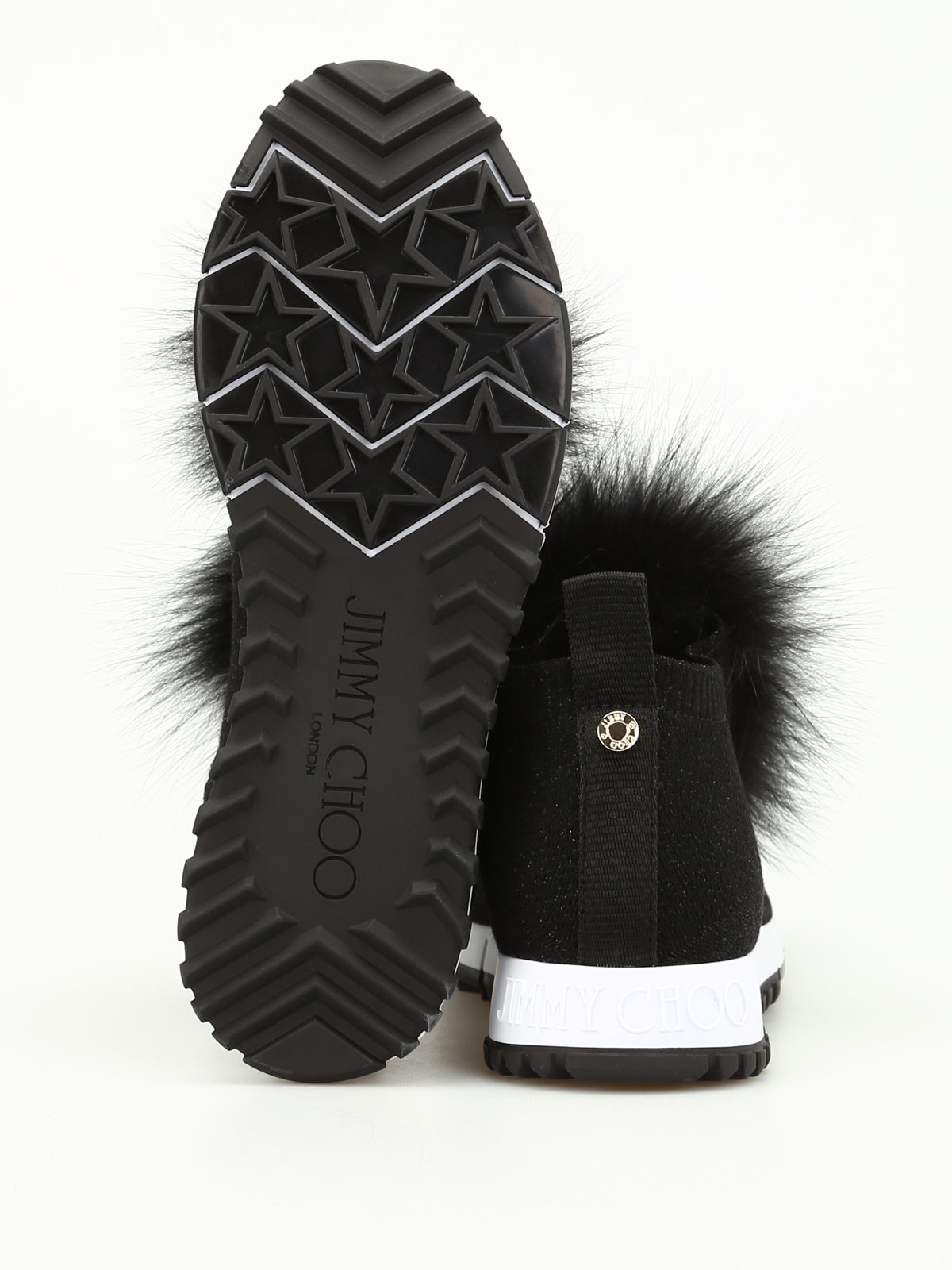 abb65a9edf7c Jimmy Choo - Norway fox fur trim slip-on shoes - trainers - NORWAY ...