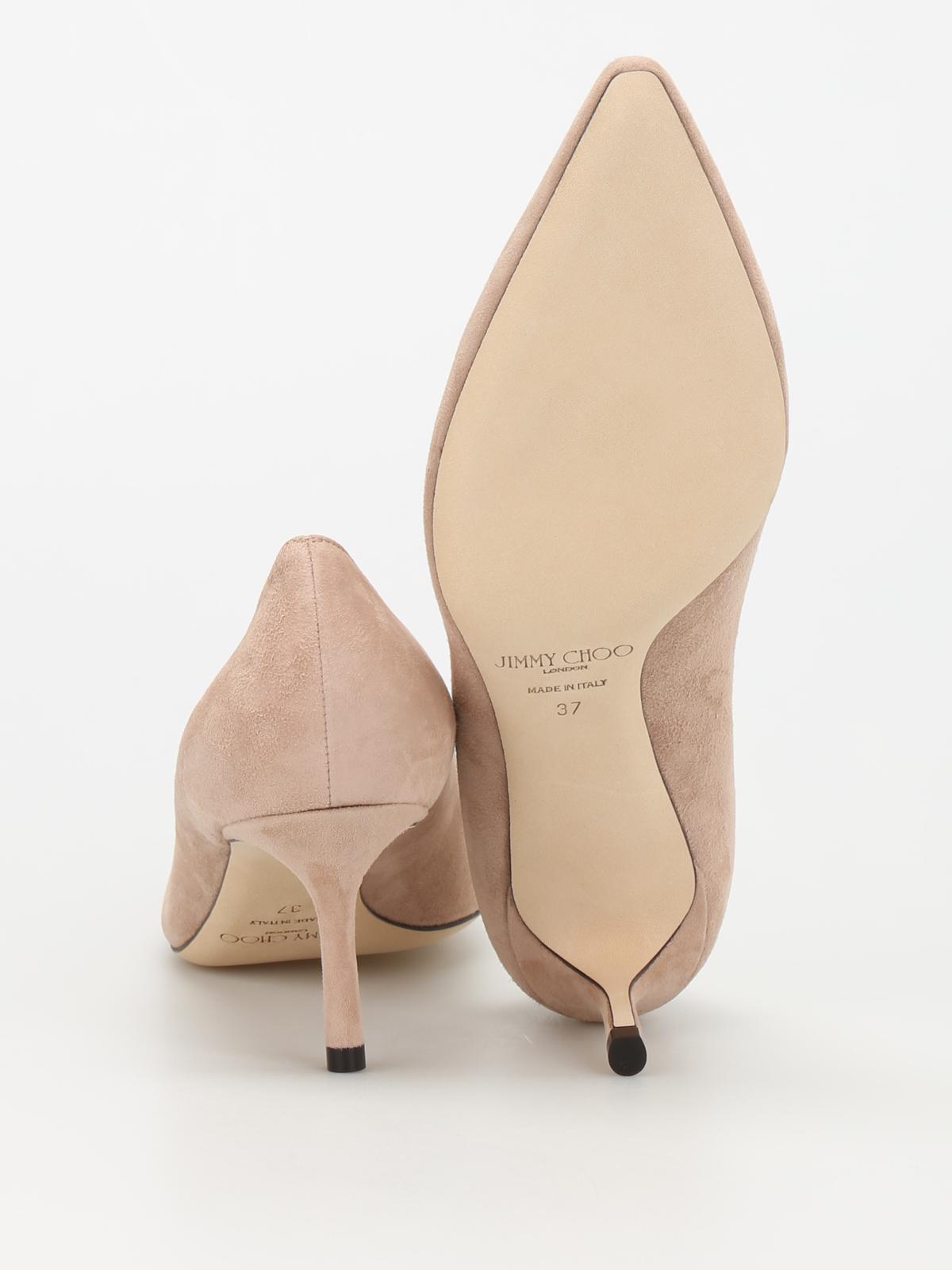 c7177eff637 Jimmy Choo - Romy 60 suede pumps - court shoes - ROMY60SUEBALLETPINK