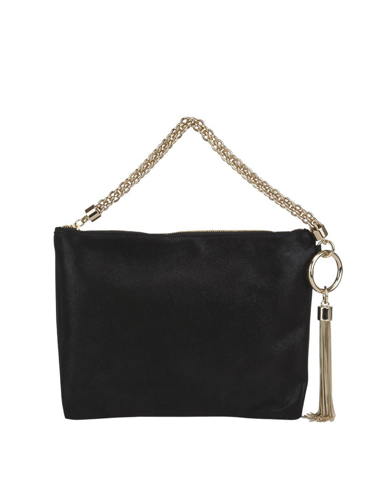 dee86e6fb9c Jimmy Choo - Callie black shimmer suede clutch - clutches ...