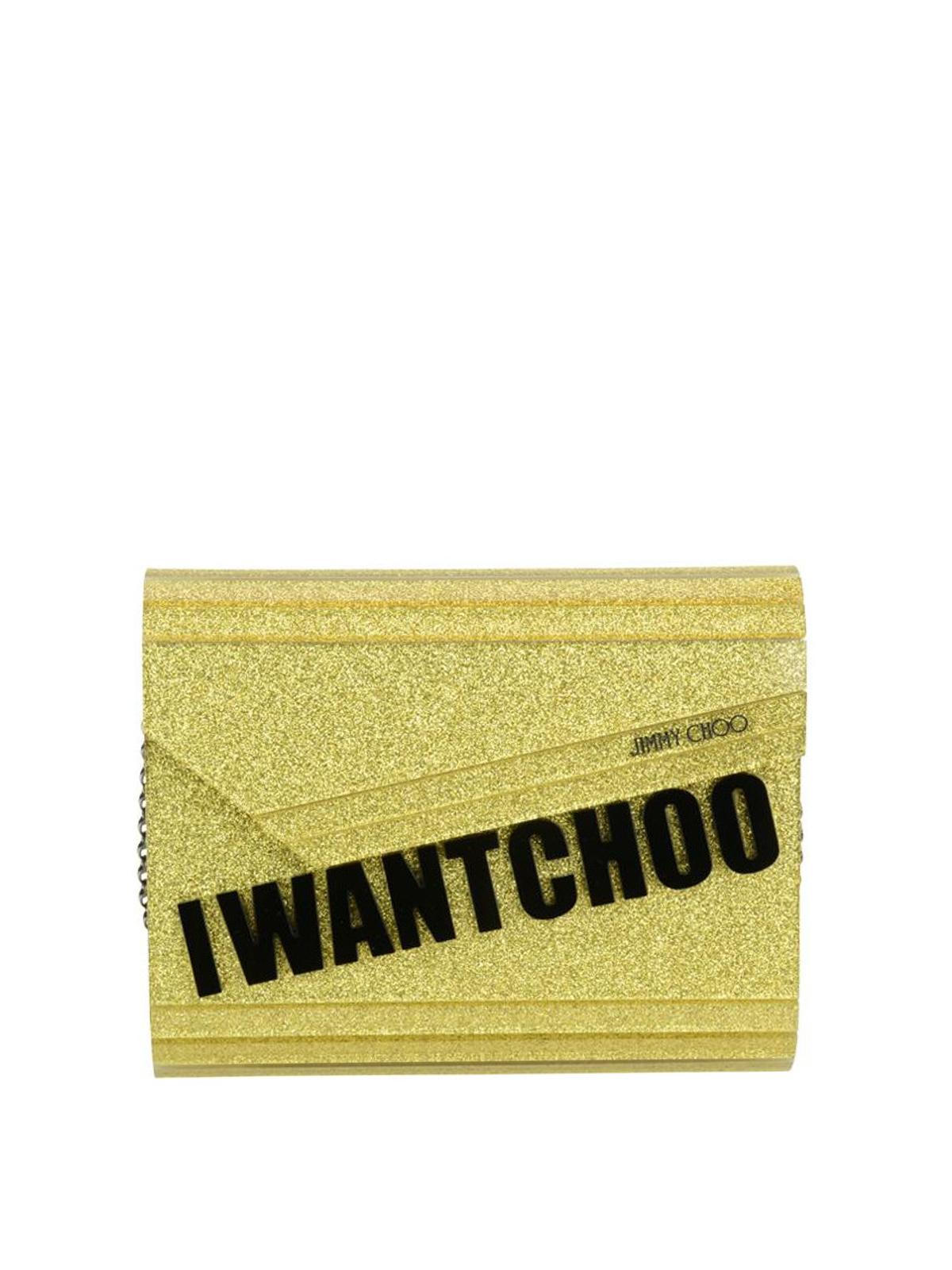 ed7db0a35 Jimmy Choo - Bolso Clutch - Candy - Bolso clutch - CANDYIWCGOLD