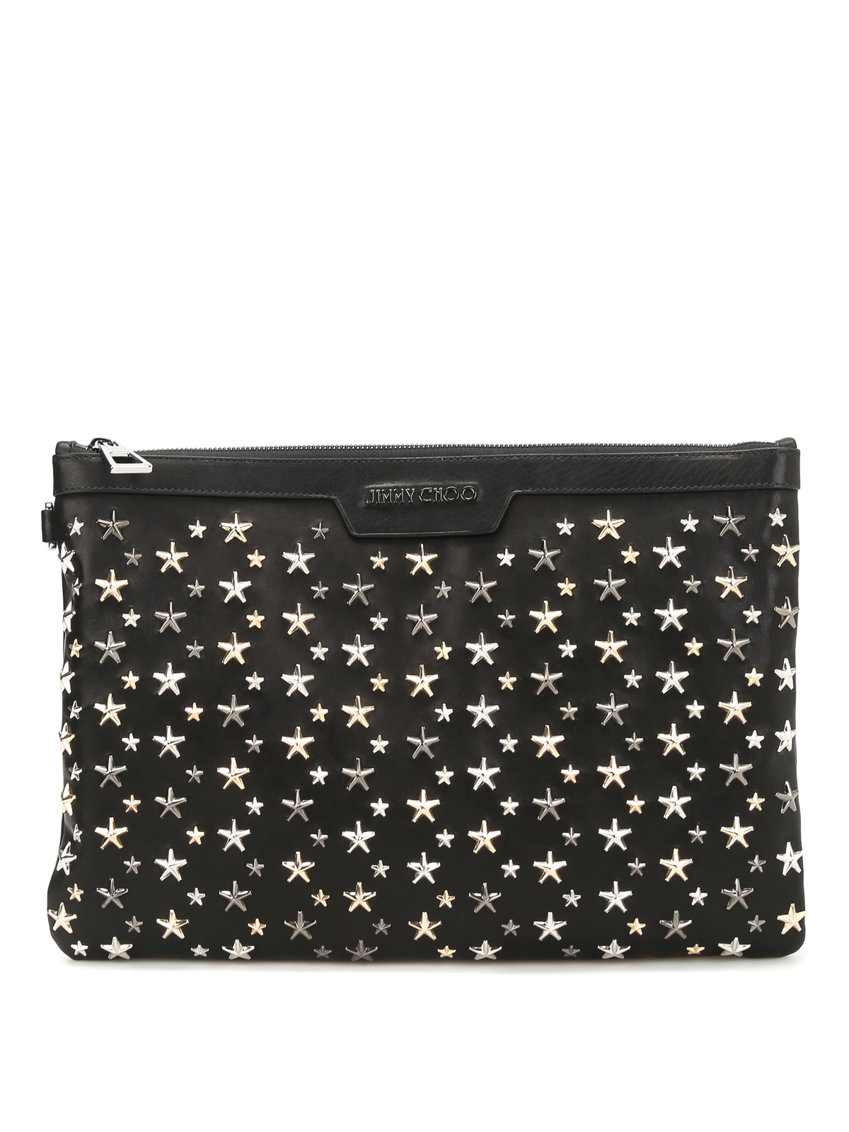 derek metal stars leather clutch by jimmy choo clutches ikrix. Black Bedroom Furniture Sets. Home Design Ideas
