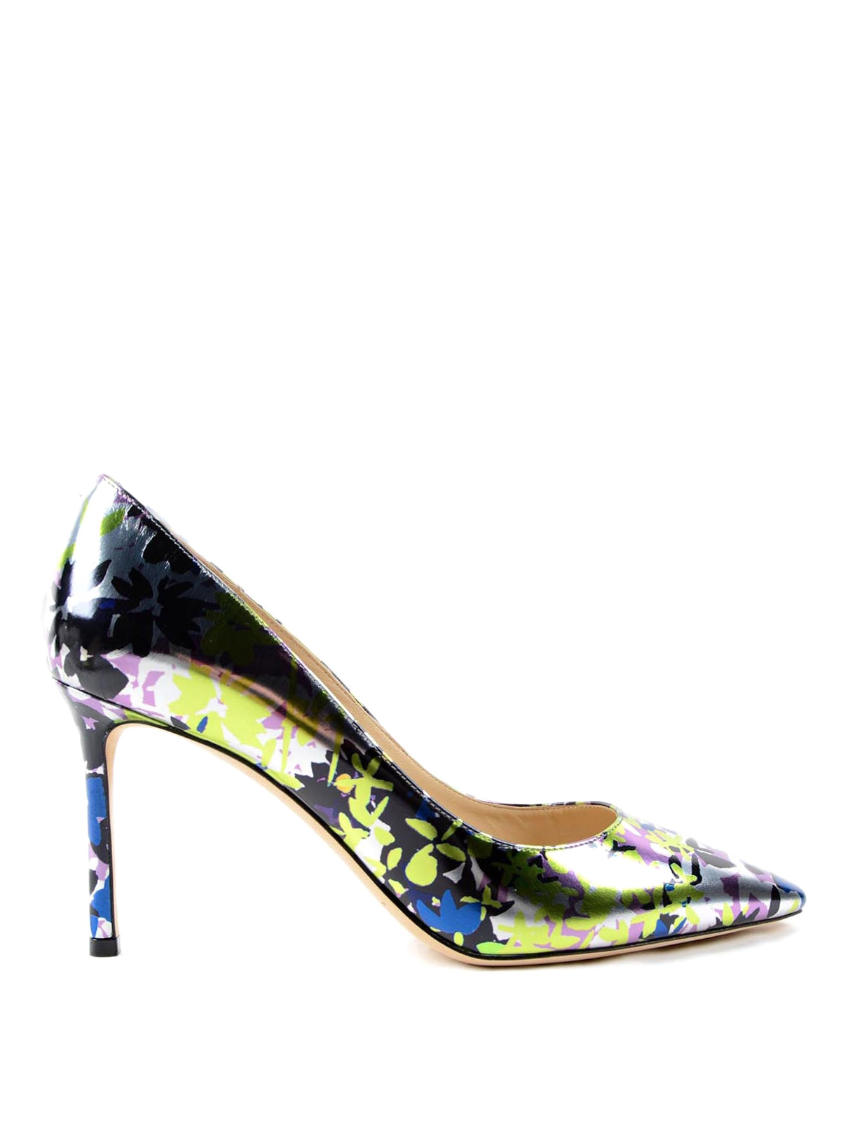 Camuflower mirror leather pumps by jimmy choo court for Jimmy choo mens shirts