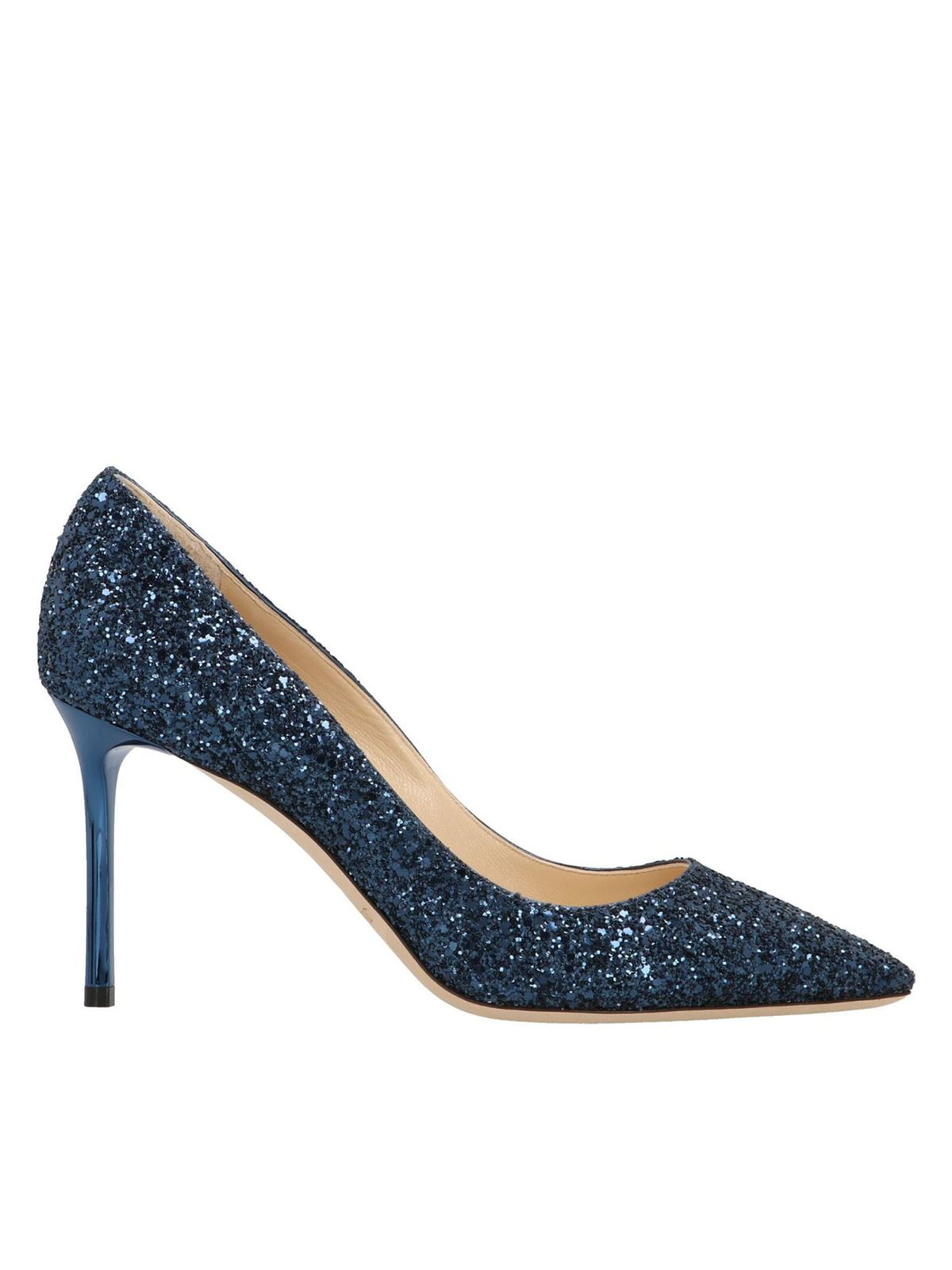 Jimmy Choo Laces ROMY 85 PUMPS IN BLUE
