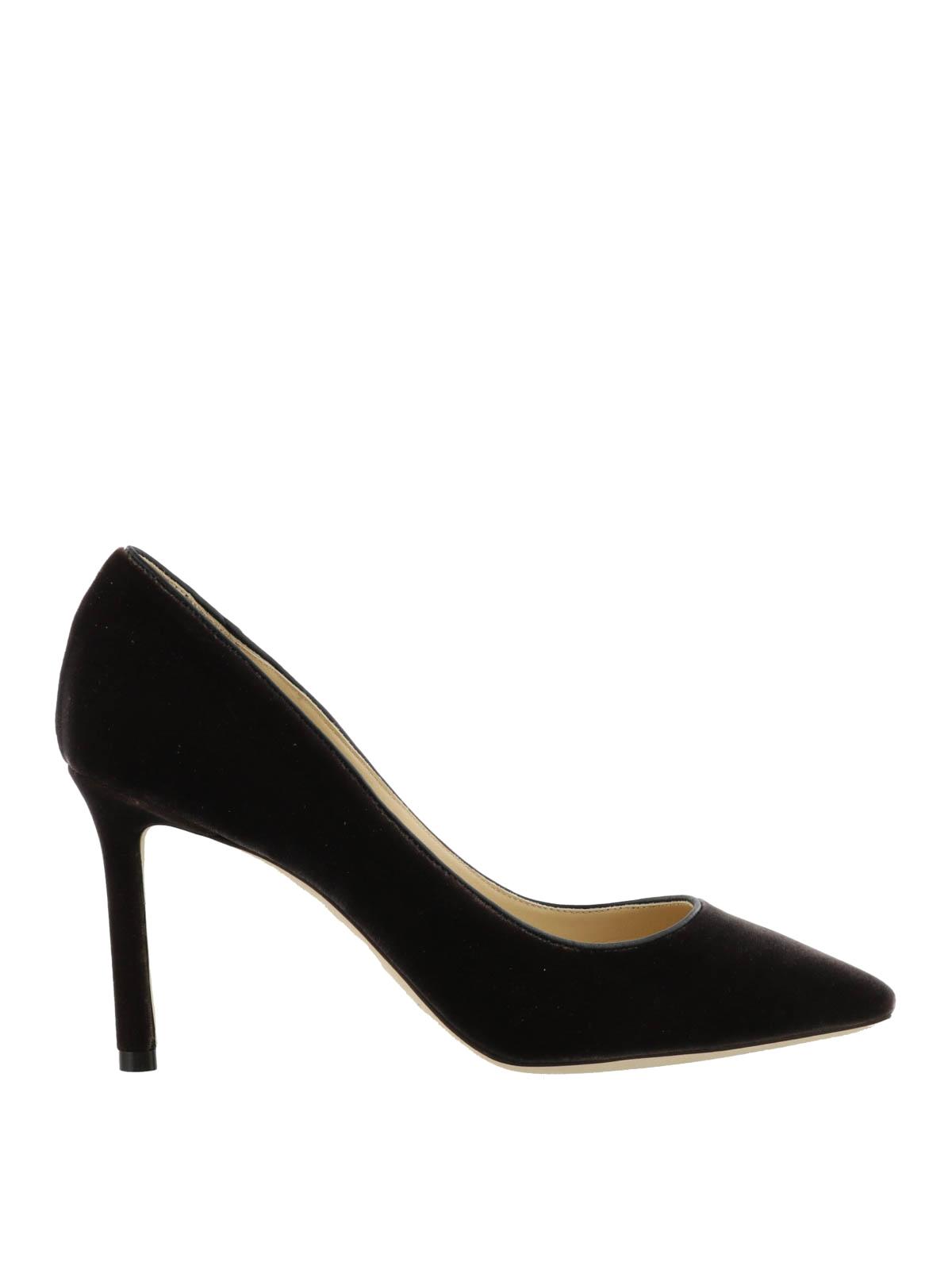 b8fb89b18c99 Jimmy Choo - Romy black velvet pumps - court shoes - ROMY 85 VEL ...