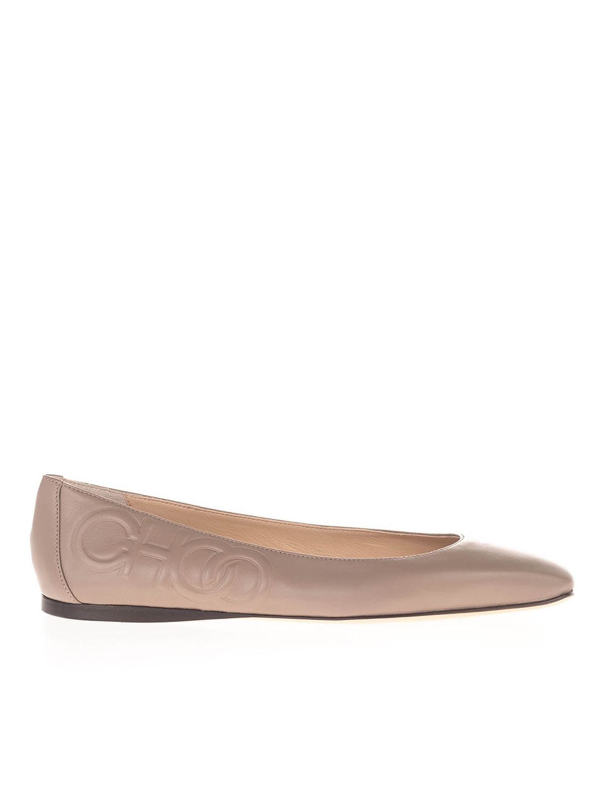 JIMMY CHOO GWNEVE FLAT IN PINK