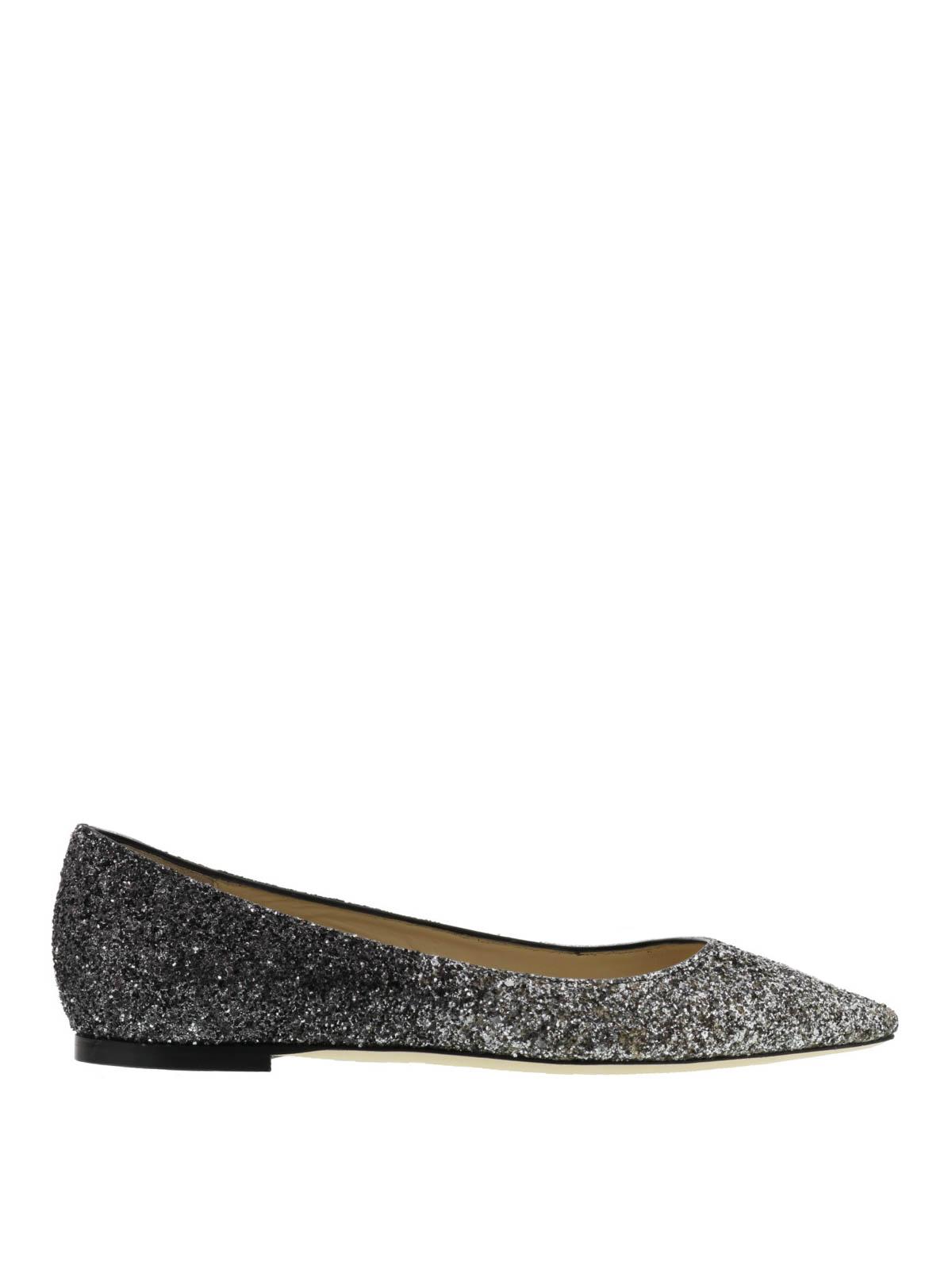 937c90623b04 Jimmy Choo - Romy faded glitter ballerinas - flat shoes ...