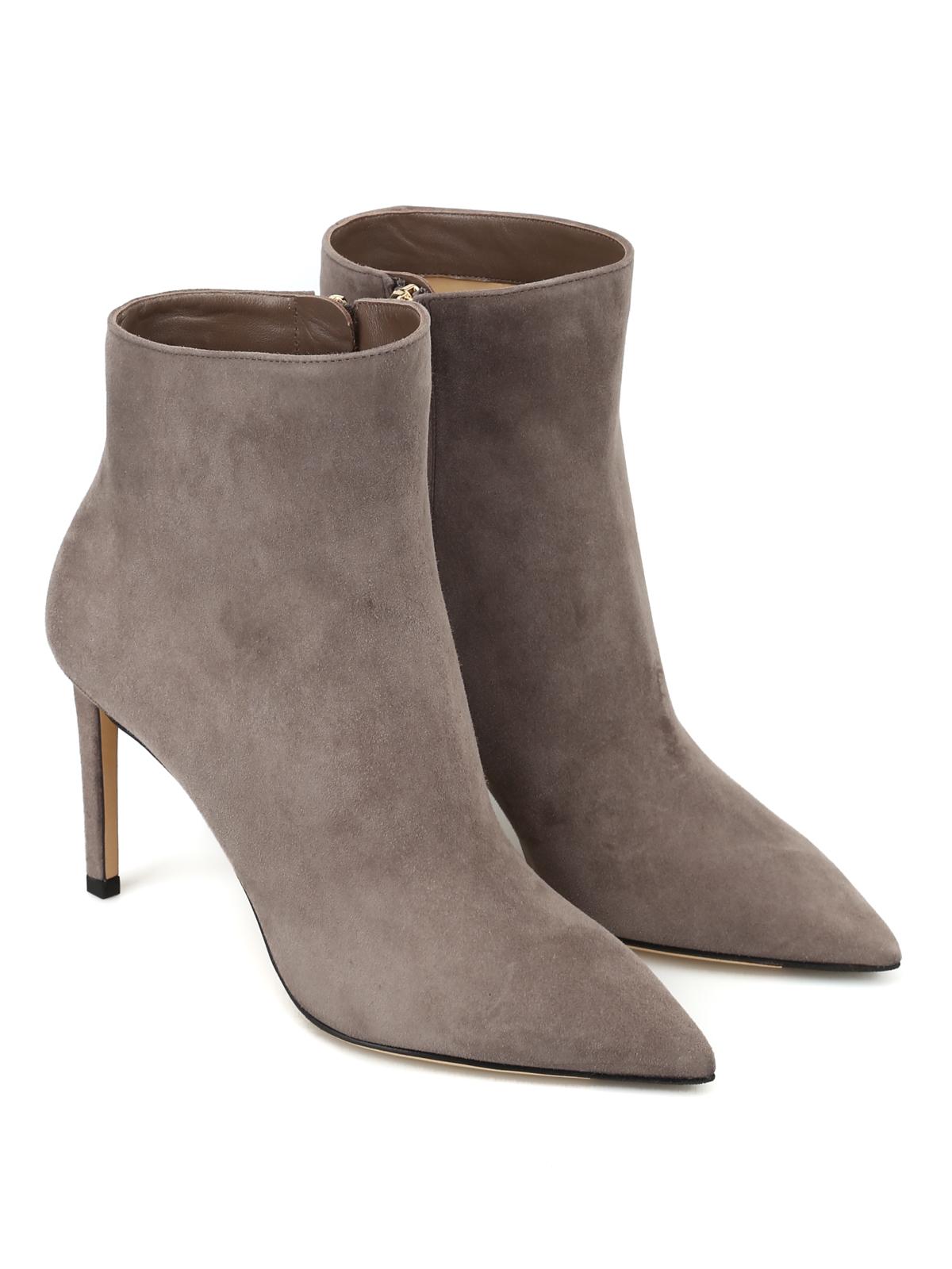 2c576267cdff JIMMY CHOO  ankle boots online - Helaine 85 dark grey suede heeled booties