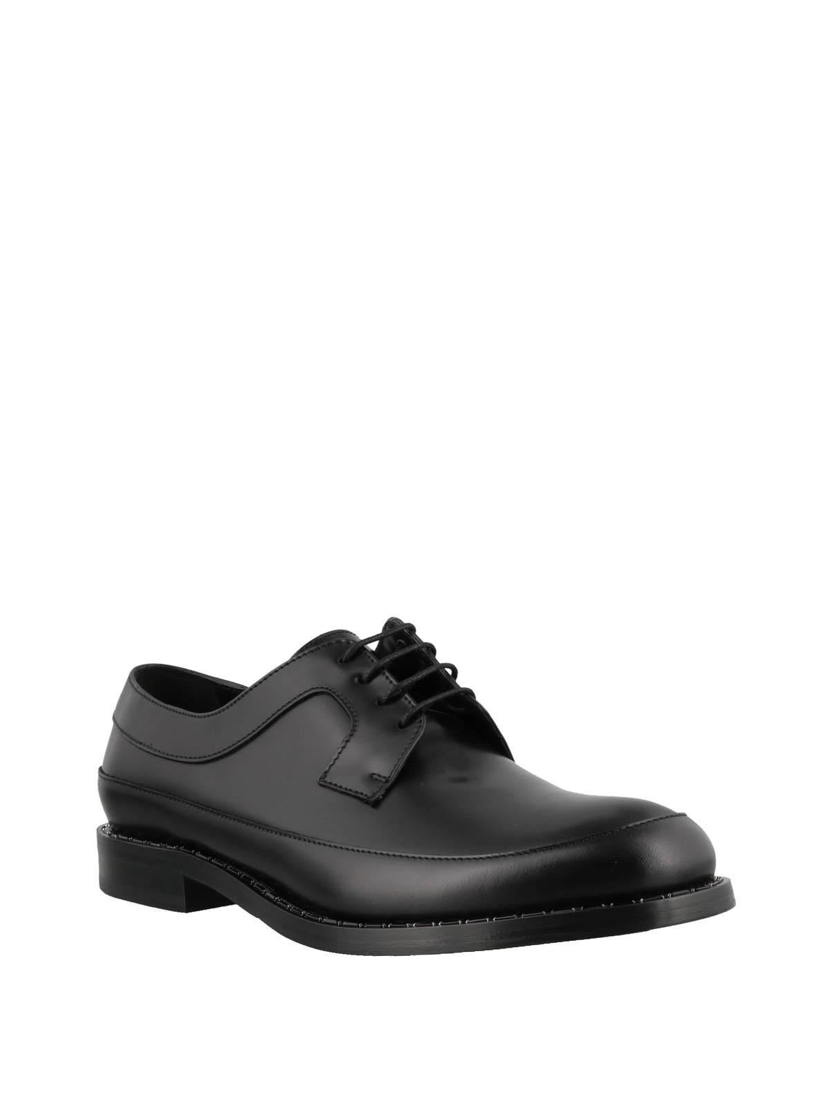 6eb9061e332 Jimmy Choo - Beni black leather lace-up shoes - classic shoes - BENI ...