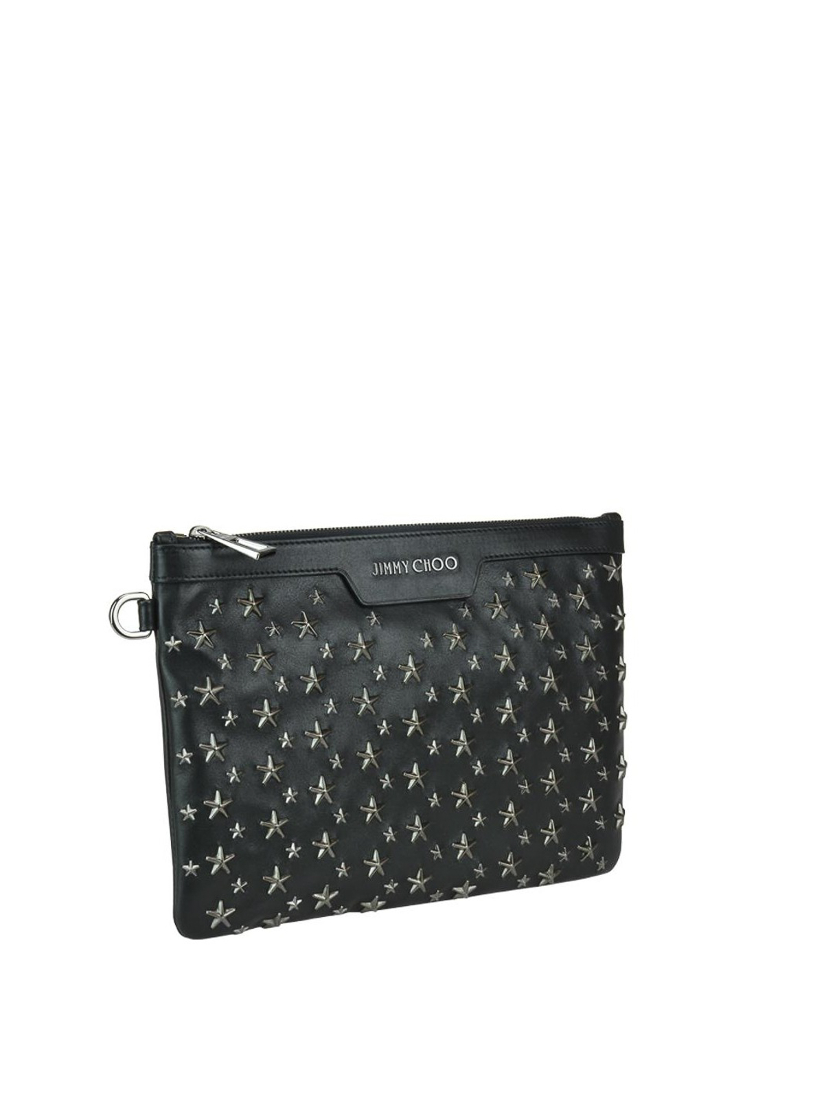 e18c0af324a Jimmy Choo - Derek clutch with metallic stars - clutches - DEREK/S ...